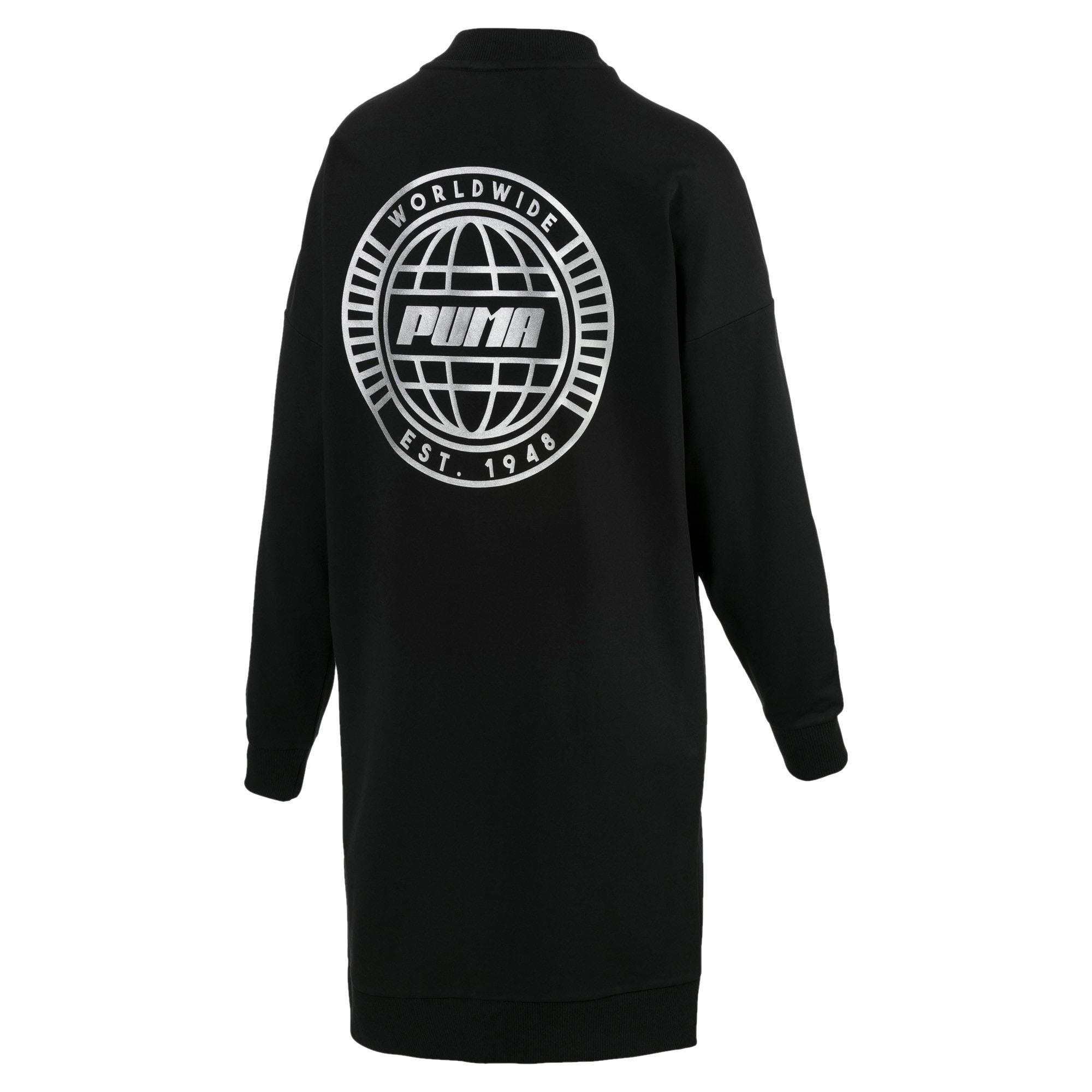 Thumbnail 5 of Trailblazer Women's Long Crewneck Sweatshirt, Cotton Black, medium