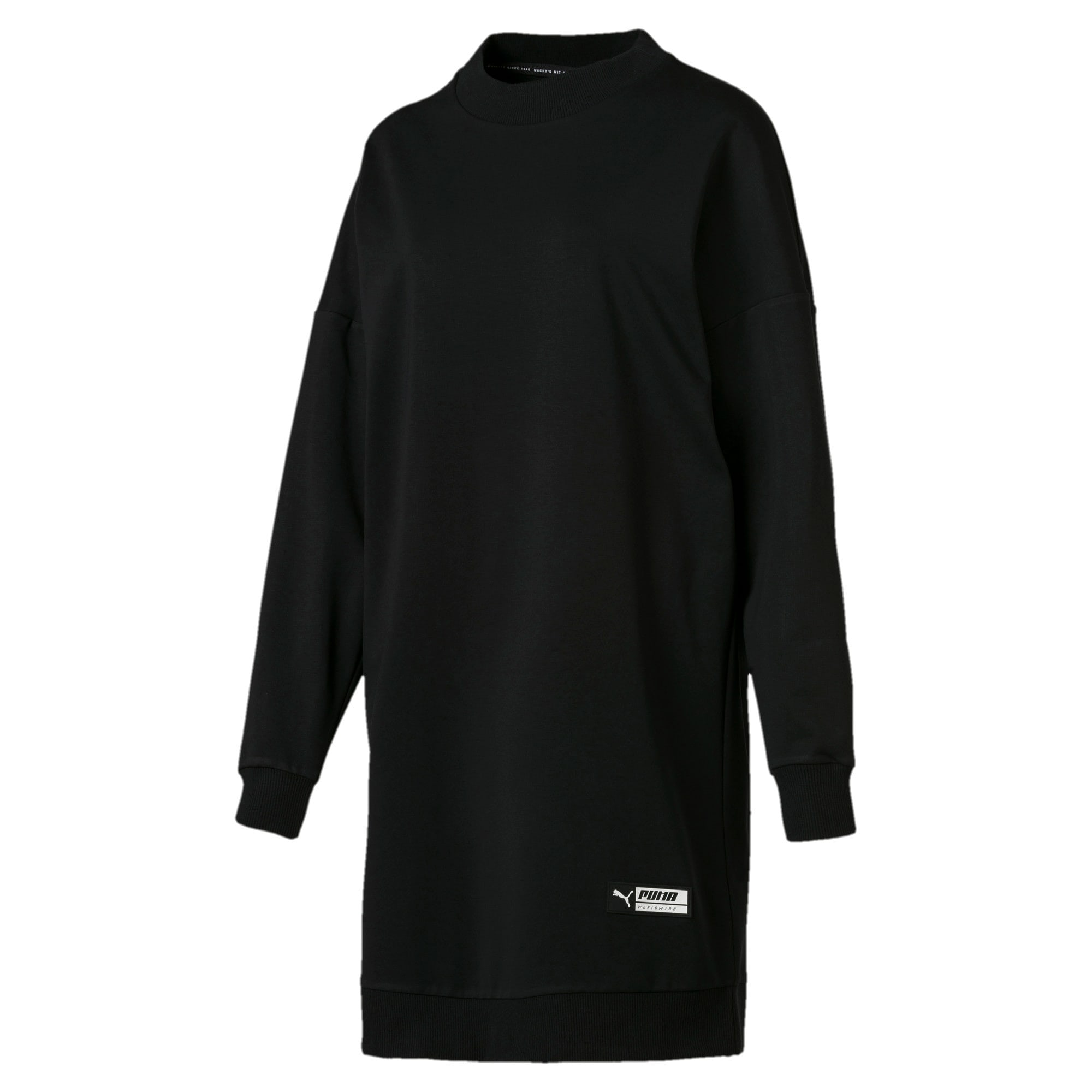 Thumbnail 4 of Trailblazer Women's Long Crewneck Sweatshirt, Cotton Black, medium
