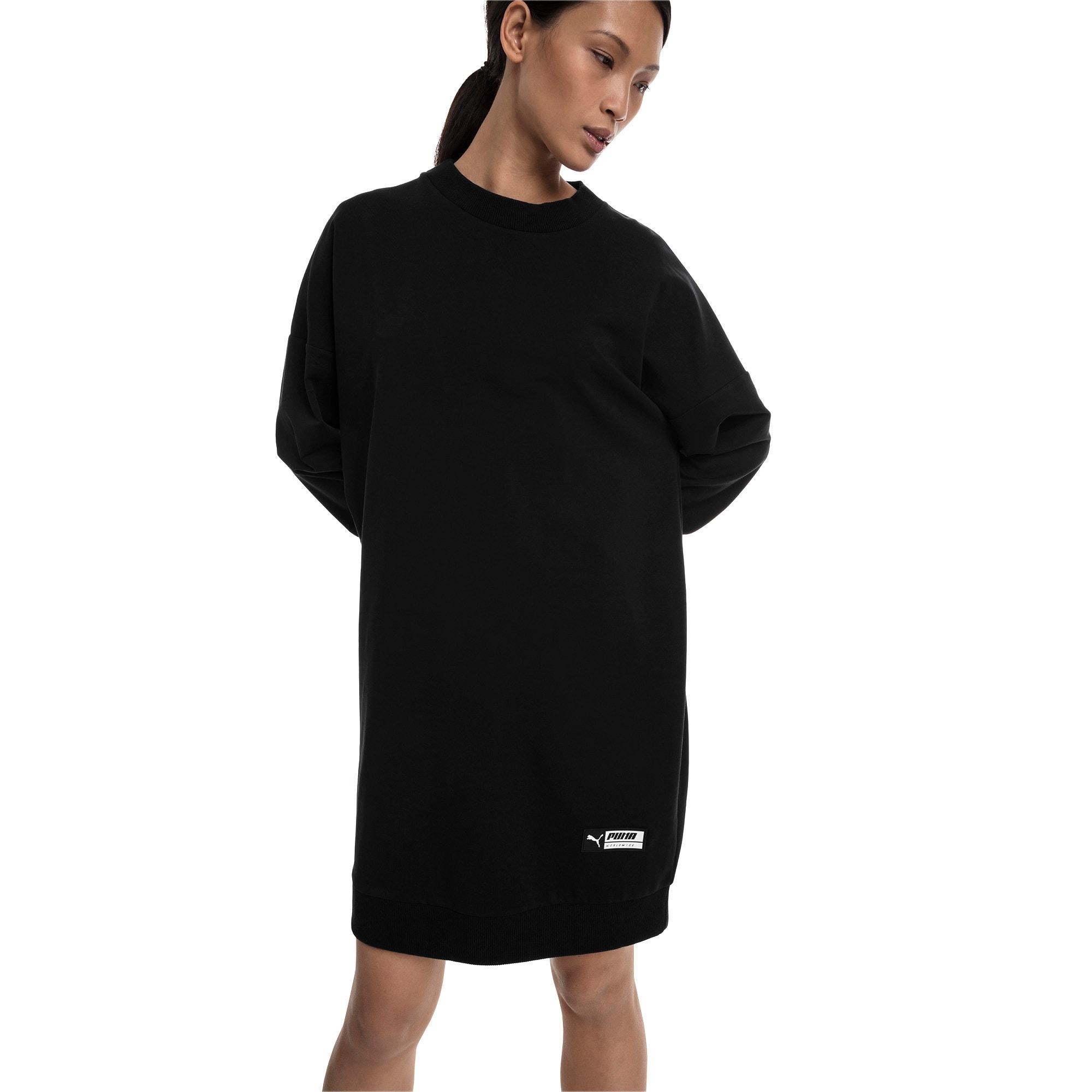 Thumbnail 1 of Trailblazer Women's Long Crewneck Sweatshirt, Cotton Black, medium