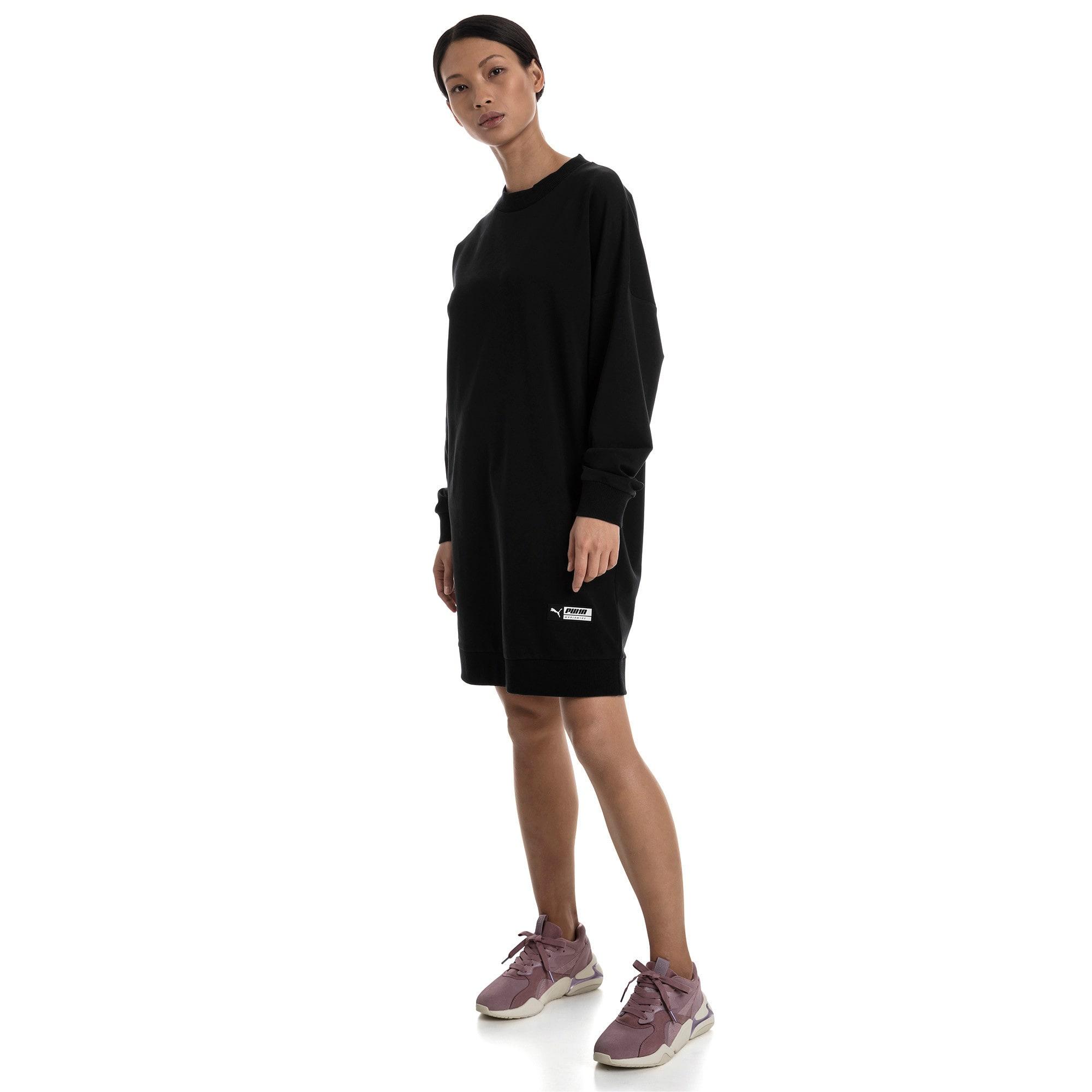 Thumbnail 3 of Trailblazer Women's Long Crewneck Sweatshirt, Cotton Black, medium