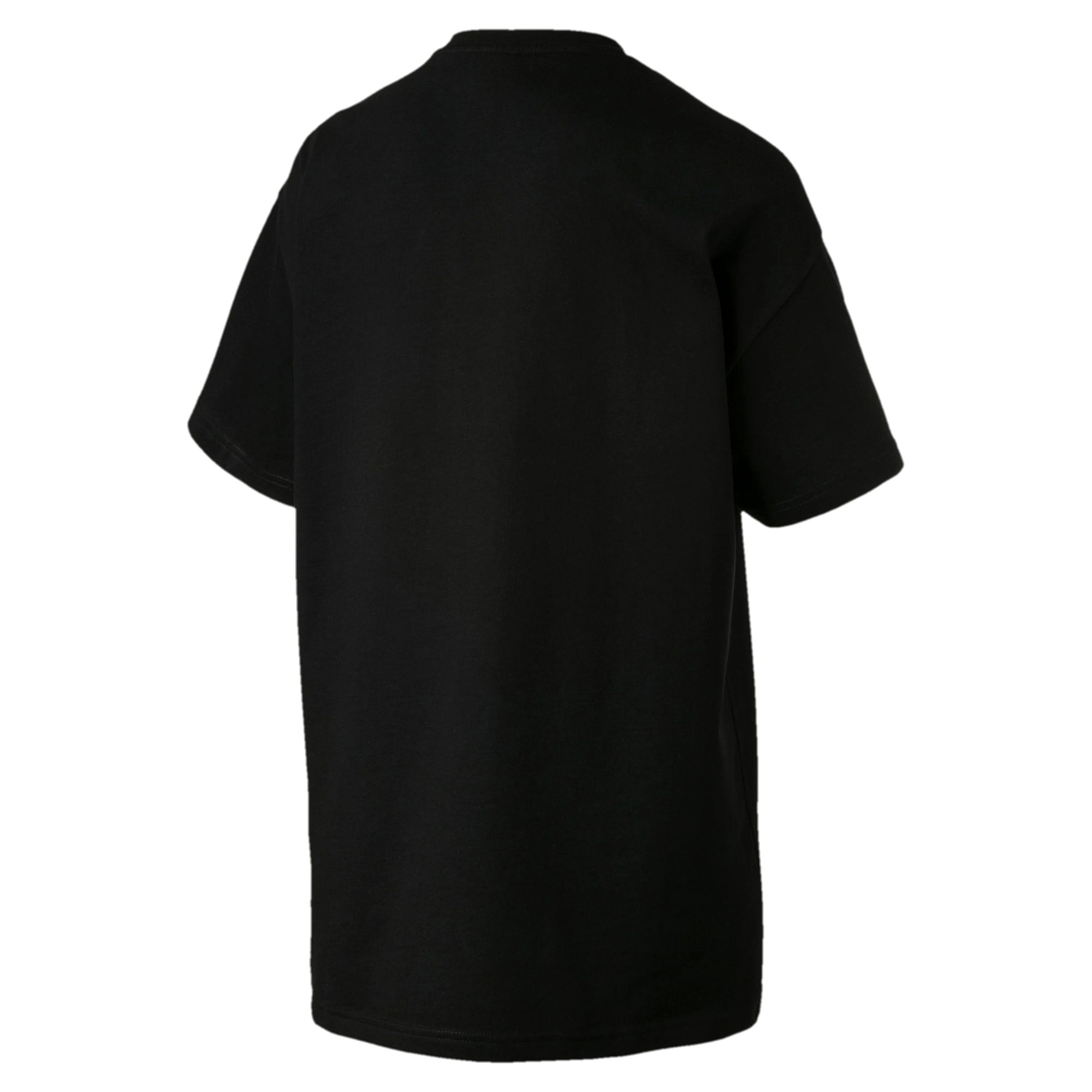 Graphics Elongated TB Tee, Cotton Black, large