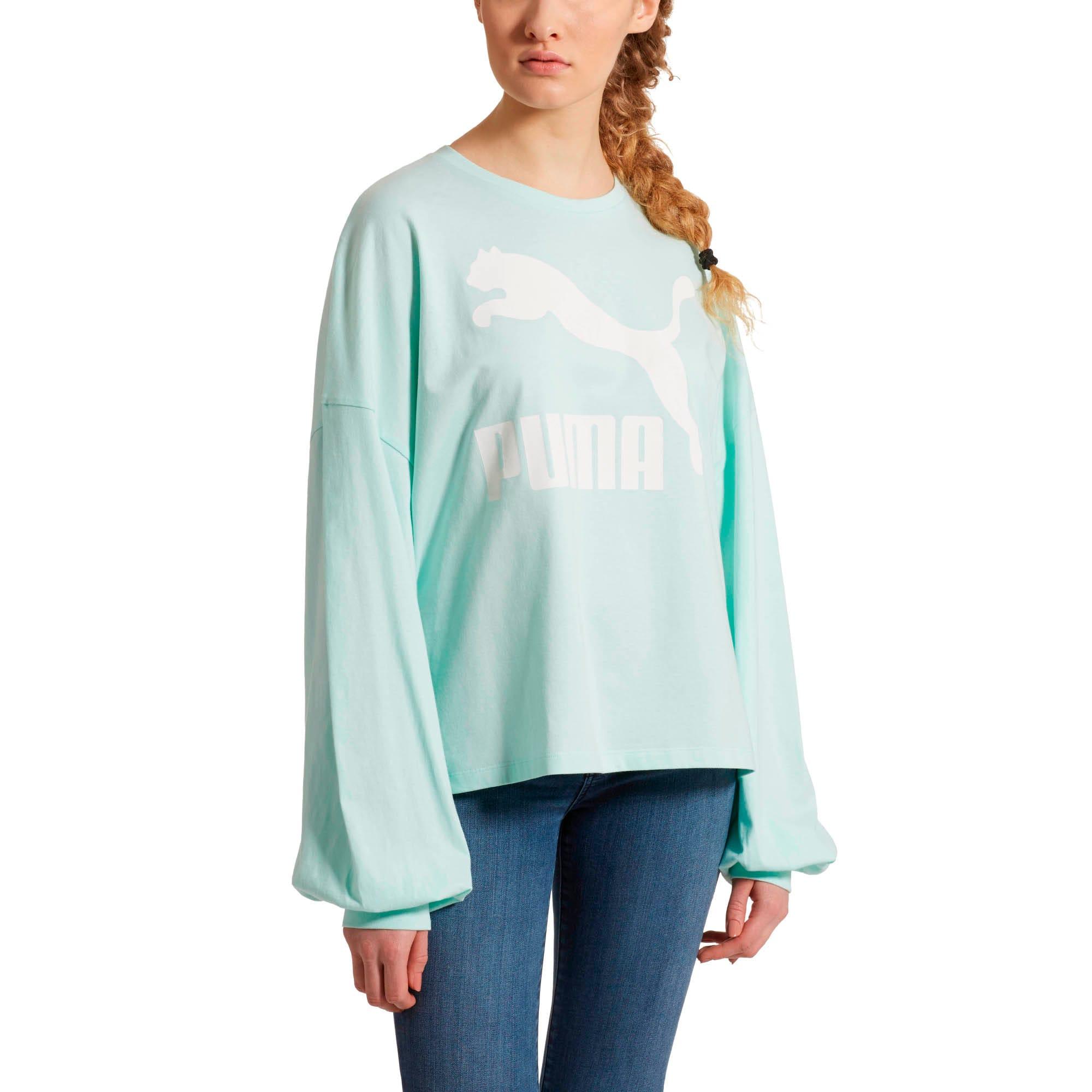 Miniatura 2 de Camiseta Classics de mangas largas con logo para mujer, Fair Aqua, mediano