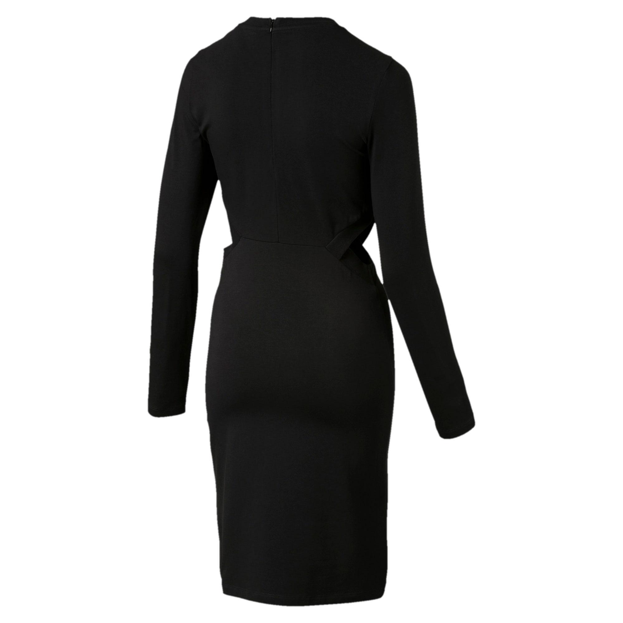 Thumbnail 3 of Classics Logo Women's Tight Dress, Cotton Black, medium