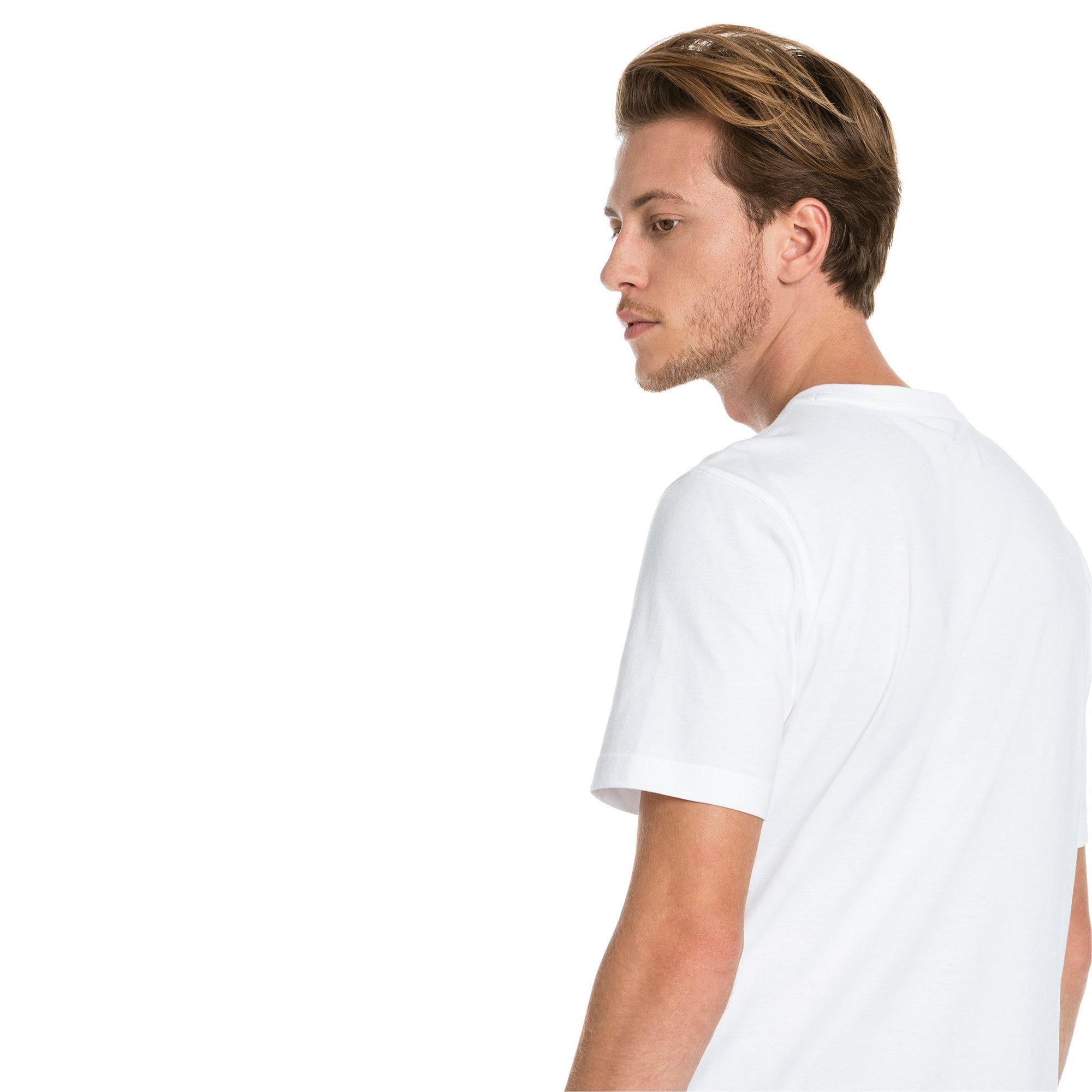 Miniatura 2 de Camiseta Classics con logo para hombre, Puma White, mediano
