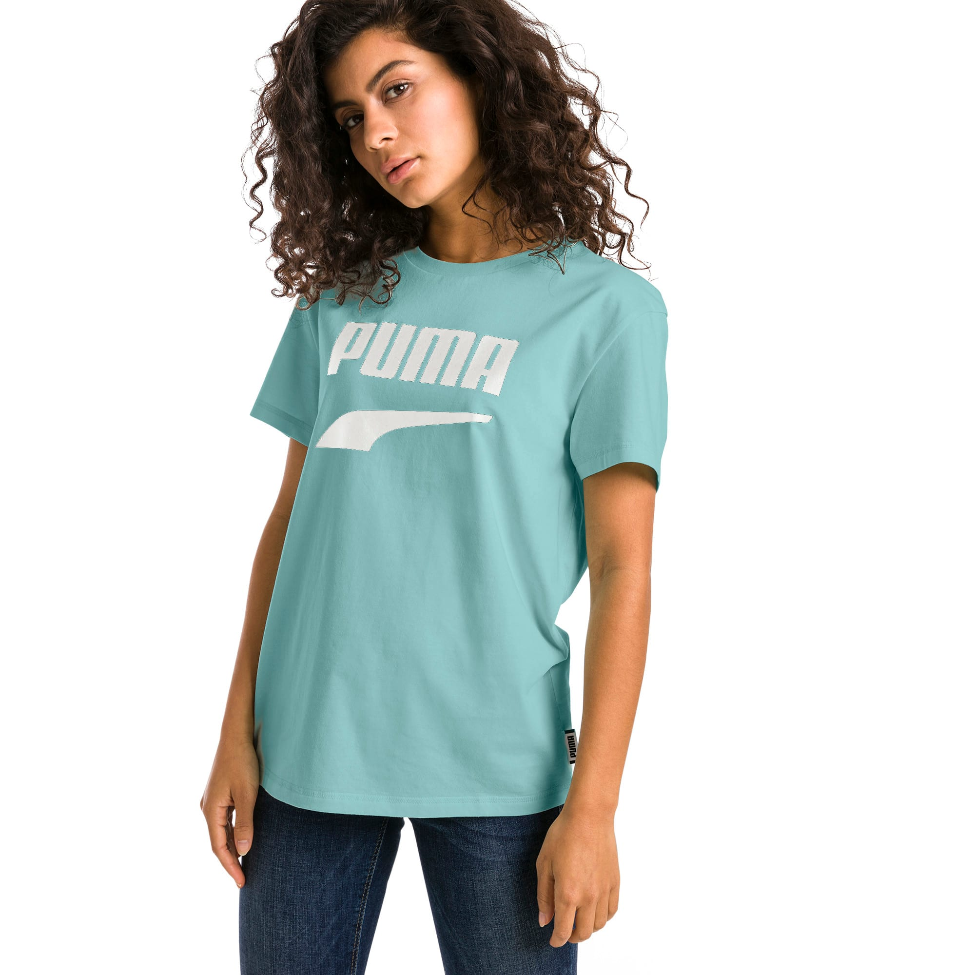 Thumbnail 2 of Downtown Short Sleeve Women's tee, Aquifer, medium