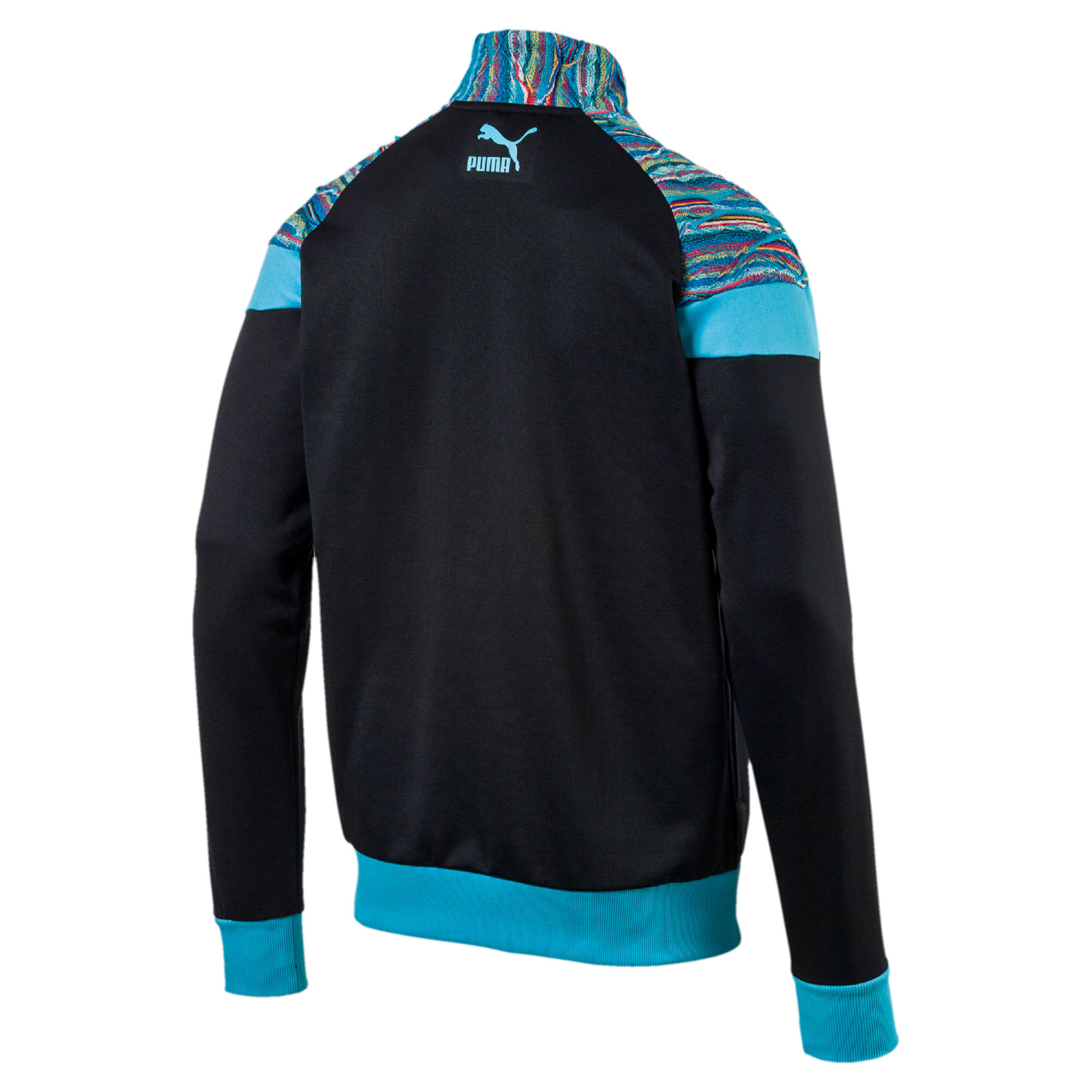 Thumbnail 2 of PUMA x COOGI Men's Track Jacket, Puma Black-Blue Atoll, medium