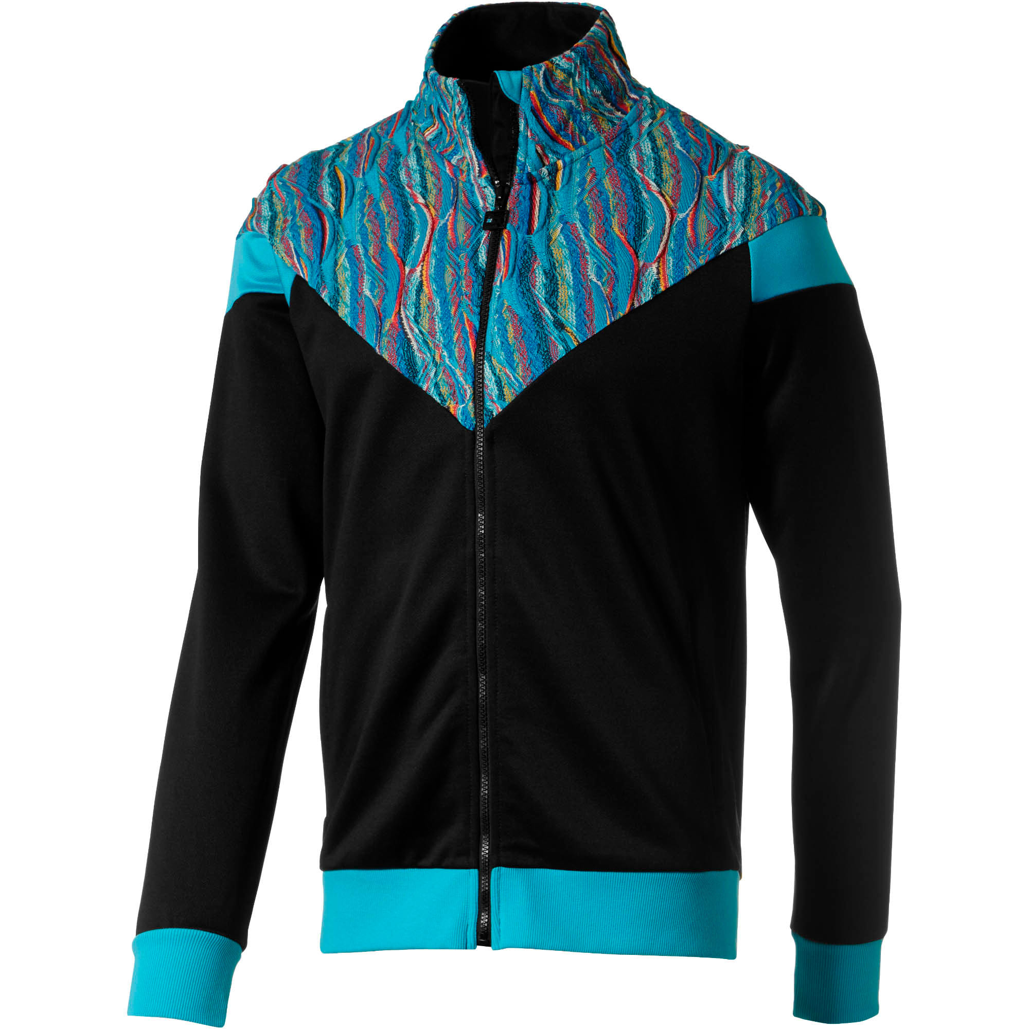 Thumbnail 1 of PUMA x COOGI Men's Track Jacket, Puma Black-Blue Atoll, medium