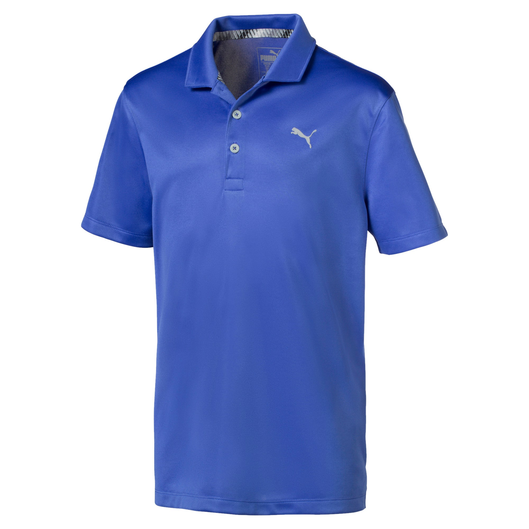 Essential Jungen Golf Polo, Dazzling Blue, large