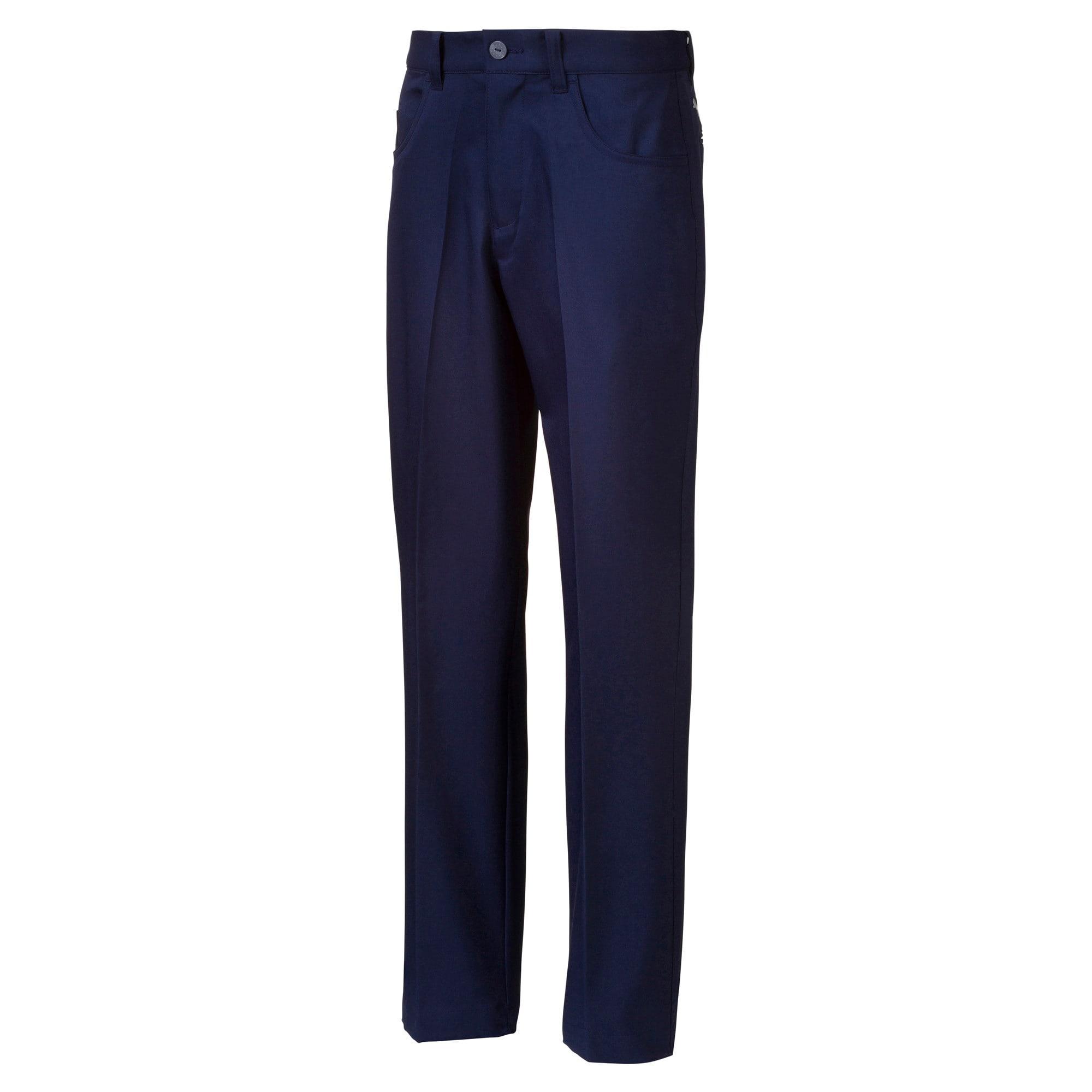 Thumbnail 1 of 5 Pocket Woven Boys' Golf Pants, Peacoat, medium