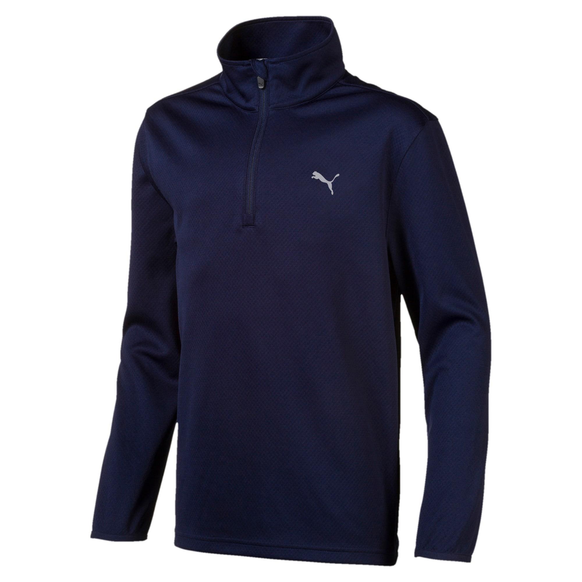 Thumbnail 1 of Quarter Zip Boys' Golf Pullover, Peacoat, medium