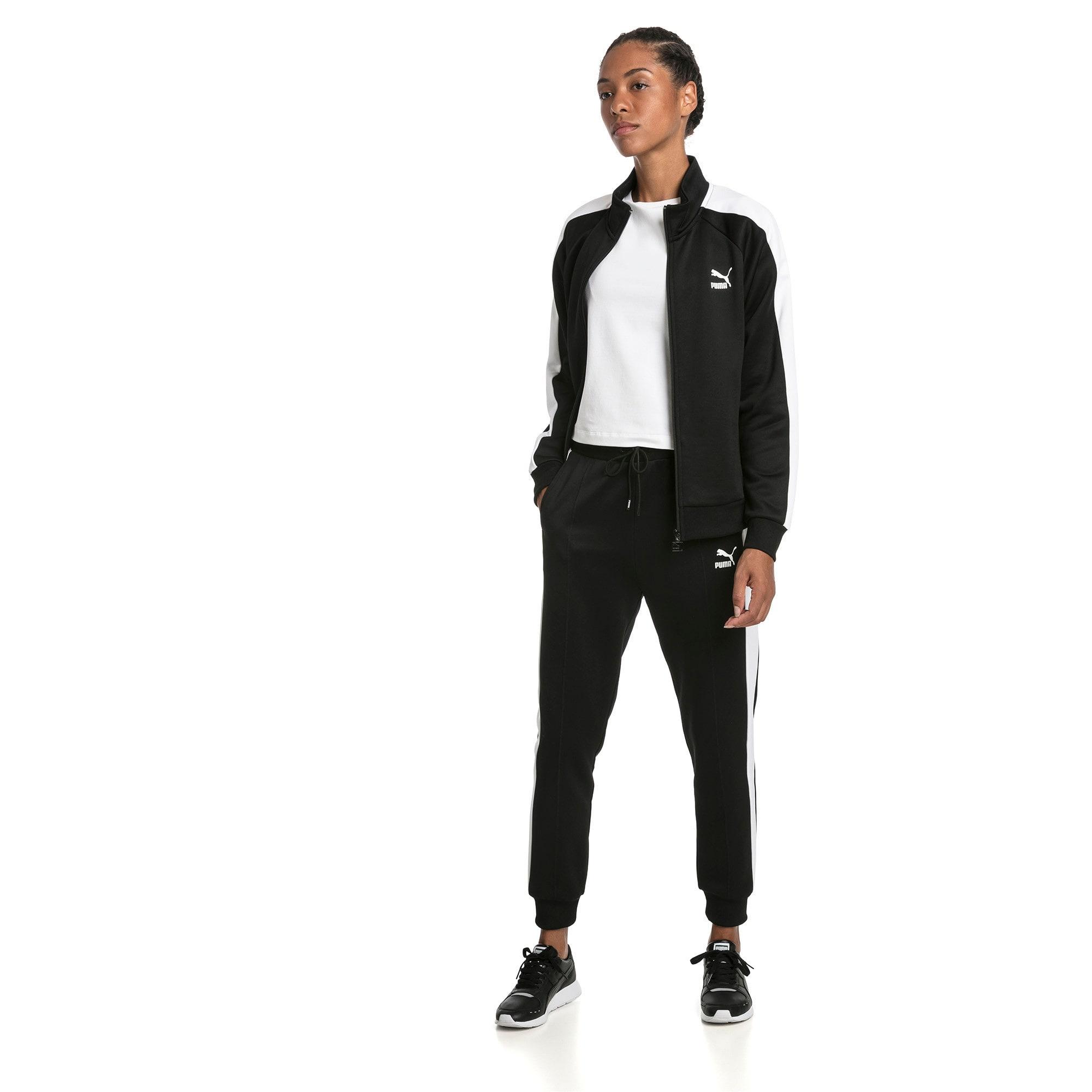 Thumbnail 3 of Classics T7 Knitted Women's Track Pants, Puma Black, medium