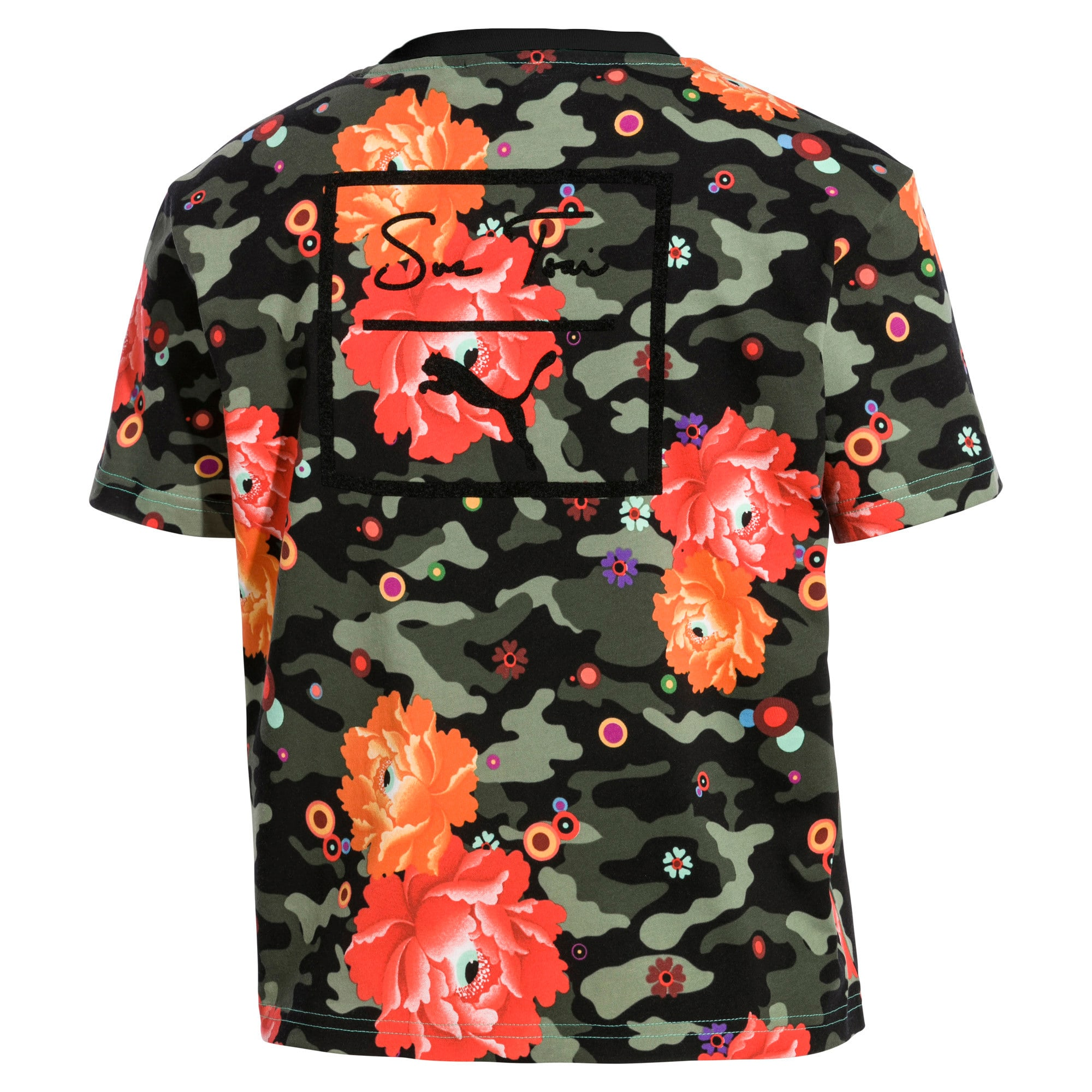Thumbnail 4 of PUMA x SUE TSAI ウィメンズ  Tシャツ, Puma Black- Peony, medium-JPN