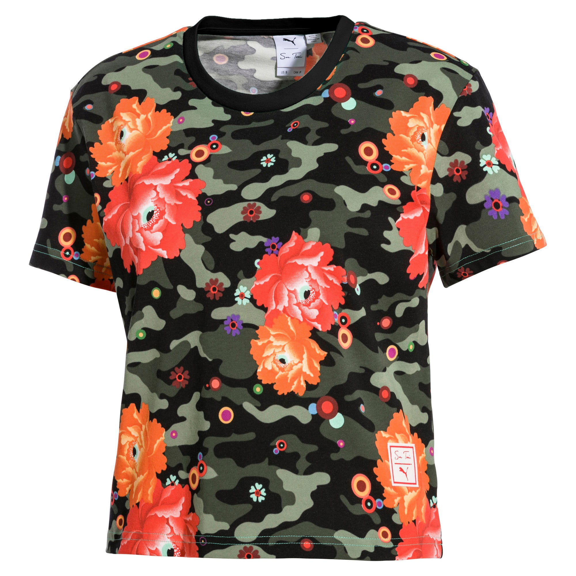Thumbnail 1 of PUMA x SUE TSAI ウィメンズ  Tシャツ, Puma Black- Peony, medium-JPN