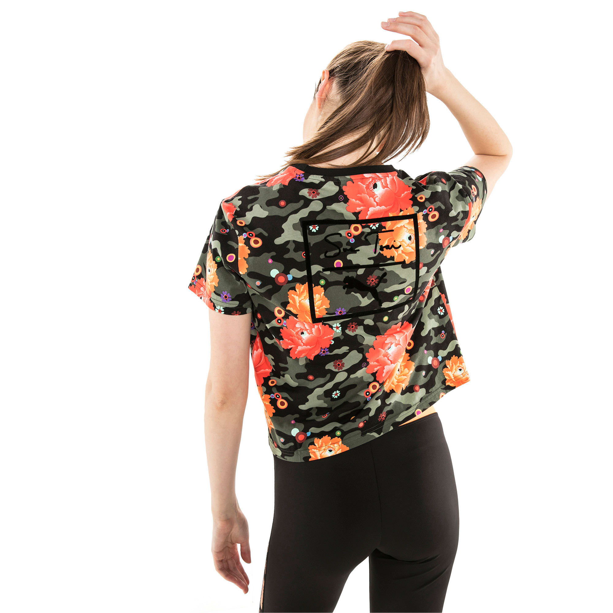 Thumbnail 5 of PUMA x SUE TSAI ウィメンズ  Tシャツ, Puma Black- Peony, medium-JPN
