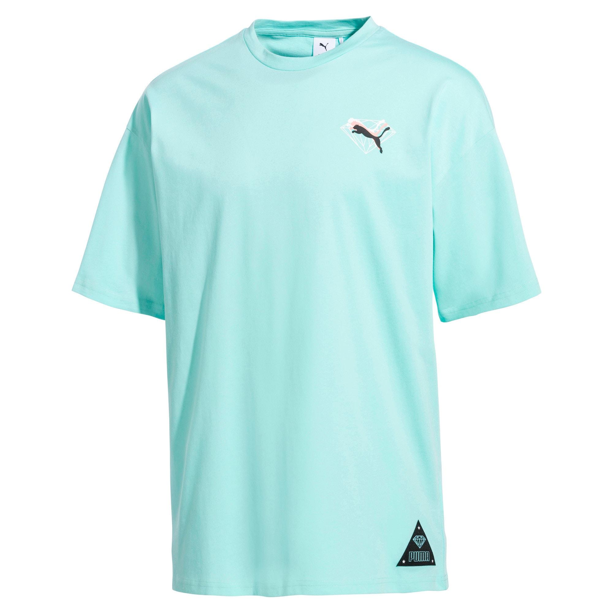 Thumbnail 4 of PUMA x DIAMOND Tシャツ, ARUBA BLUE, medium-JPN