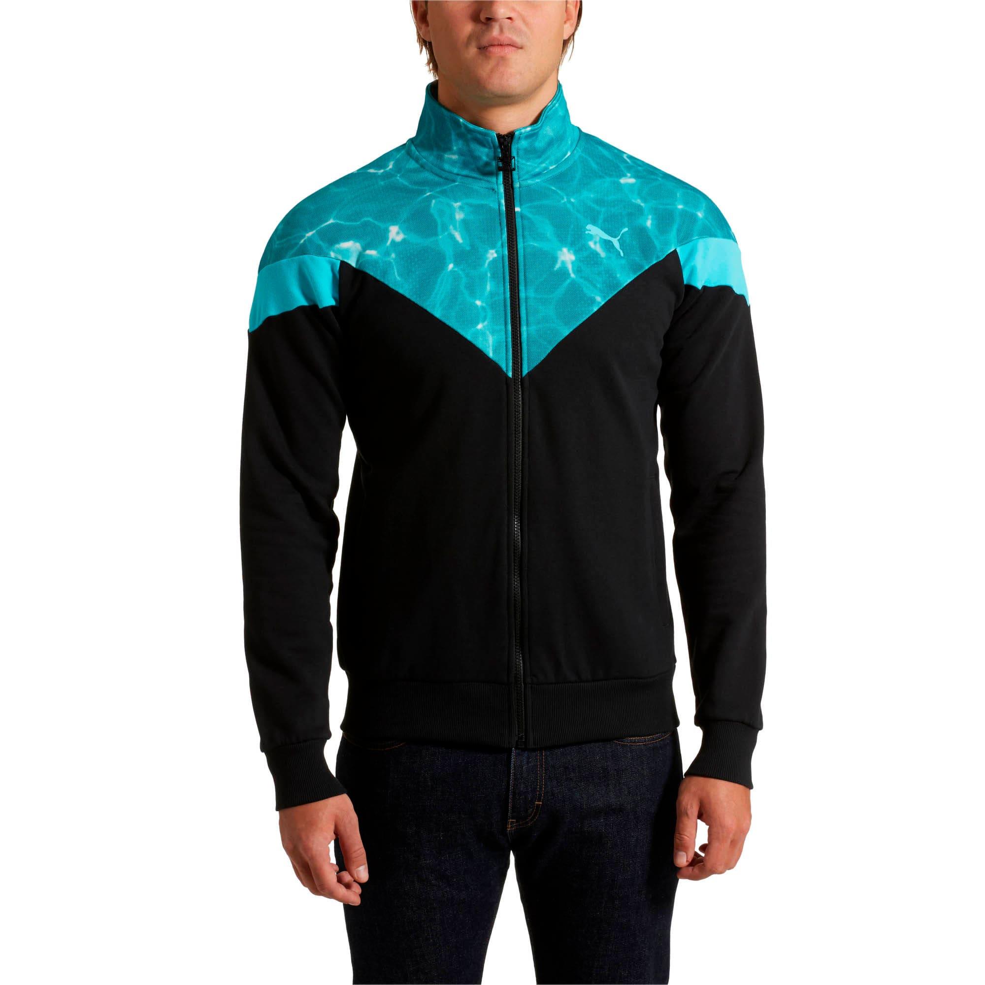 Thumbnail 2 of MCS Pool Men's Track Jacket, Puma Black, medium