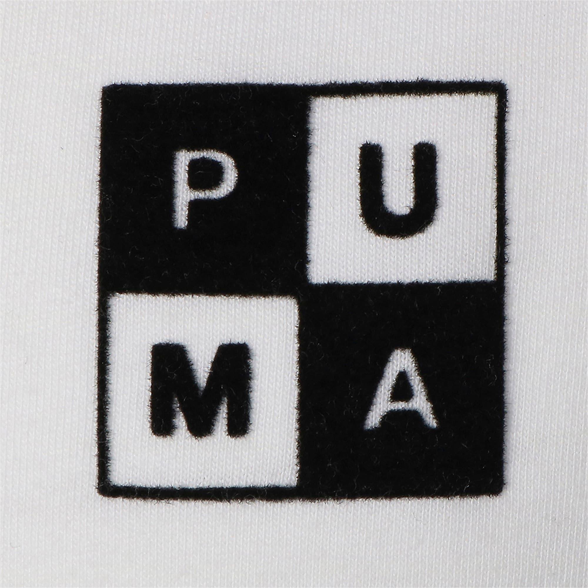 Thumbnail 3 of CHECKBOARD TEE, Puma White, medium-JPN
