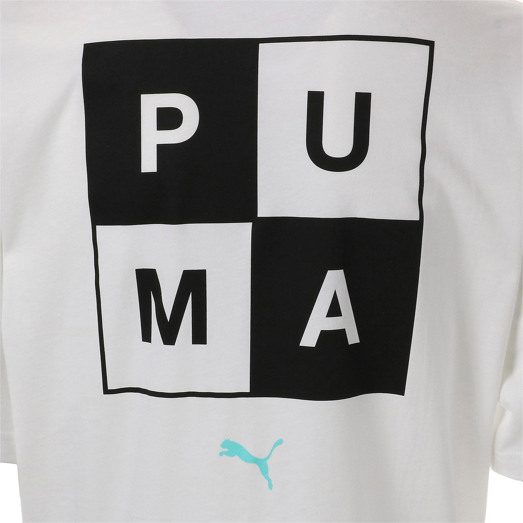 Thumbnail 6 of CHECKBOARD TEE, Puma White, medium-JPN
