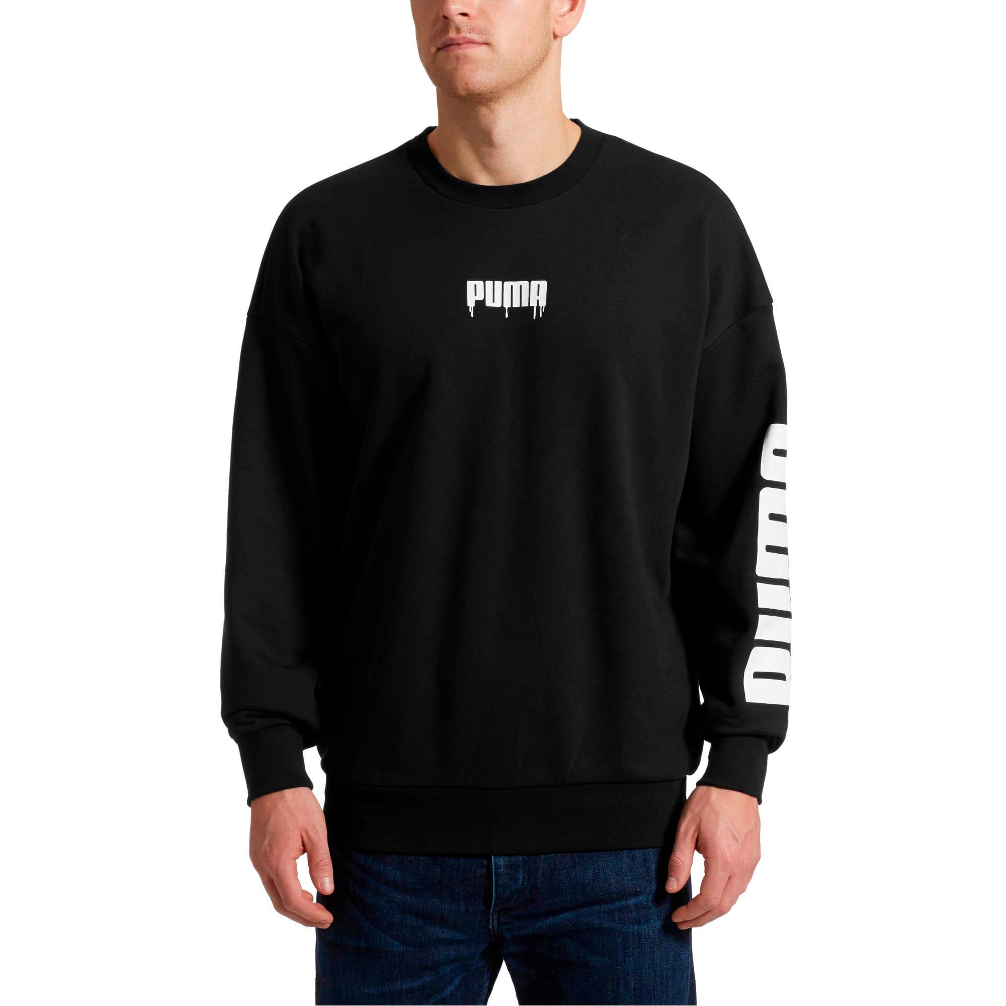 Thumbnail 2 of SUPER PUMA Sound Men's Crewneck Sweatshirt, Puma Black, medium
