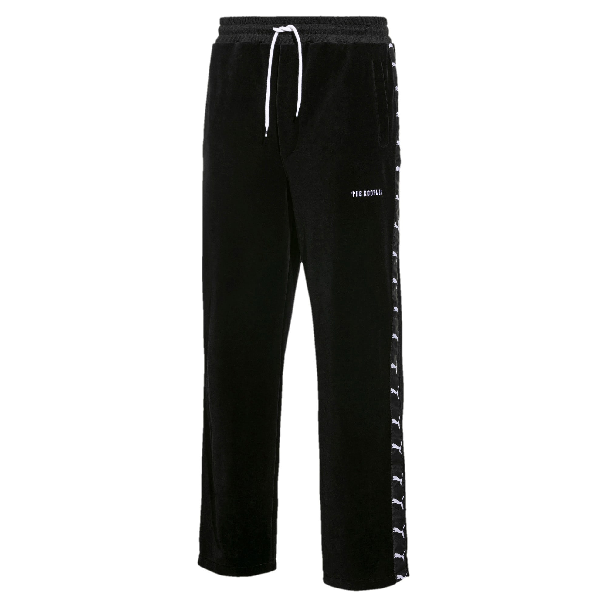 Thumbnail 1 of PUMA x THE KOOPLES Men's Velour Track Pants, Puma Black, medium