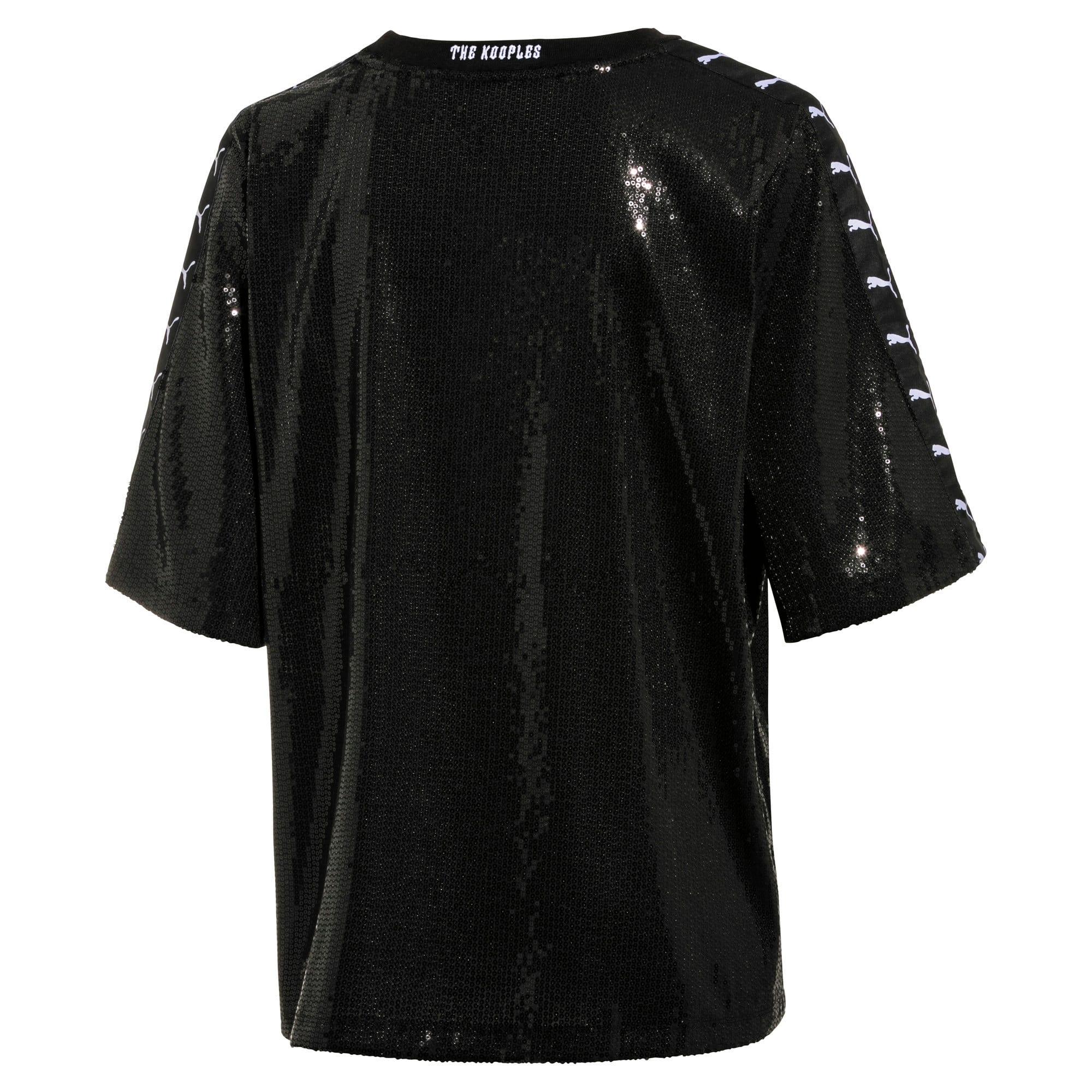 Miniatura 2 de Camiseta con lentejuelas PUMA x THE KOOPLES para mujer, Puma Black, mediano