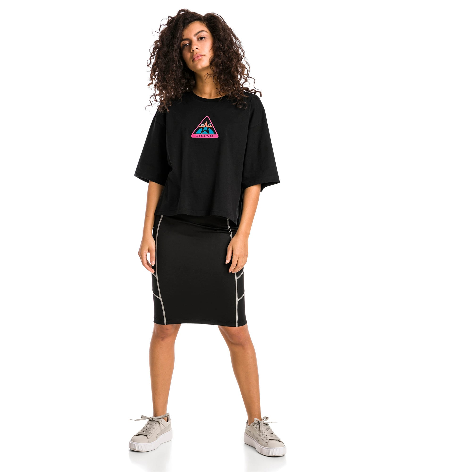 Thumbnail 3 of Trailblazer Women's Tee, Cotton Black, medium