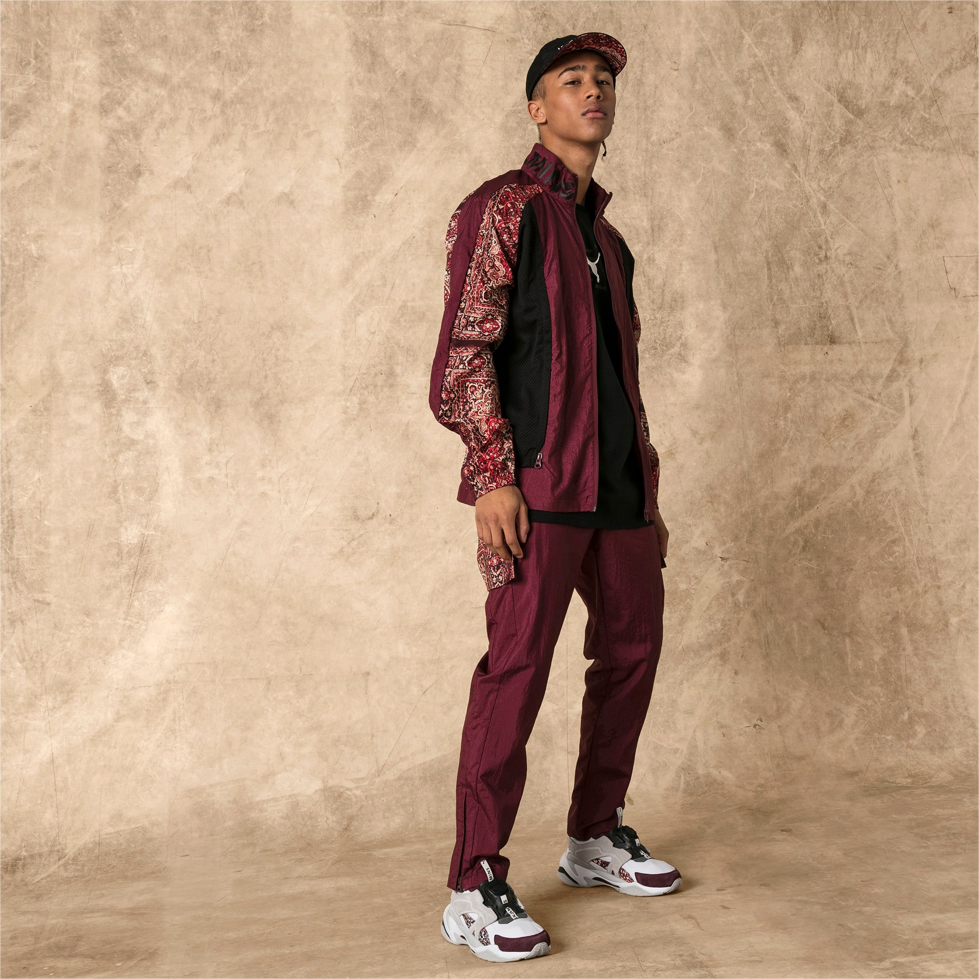 Miniatura 3 de Pantalones deportivos PUMA x LES BENJAMINS para hombre, Burgundy, mediano