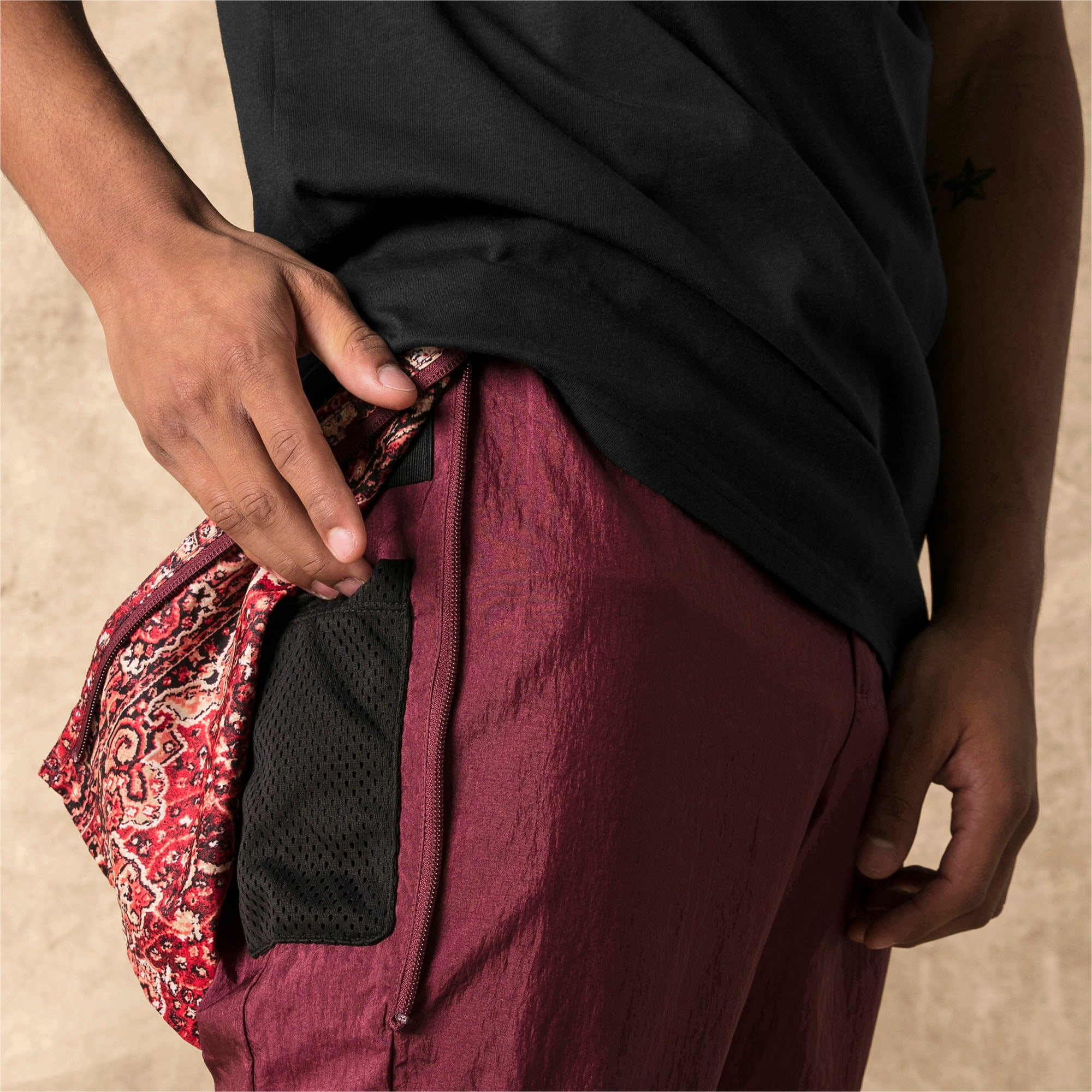 Miniatura 4 de Pantalones deportivos PUMA x LES BENJAMINS para hombre, Burgundy, mediano