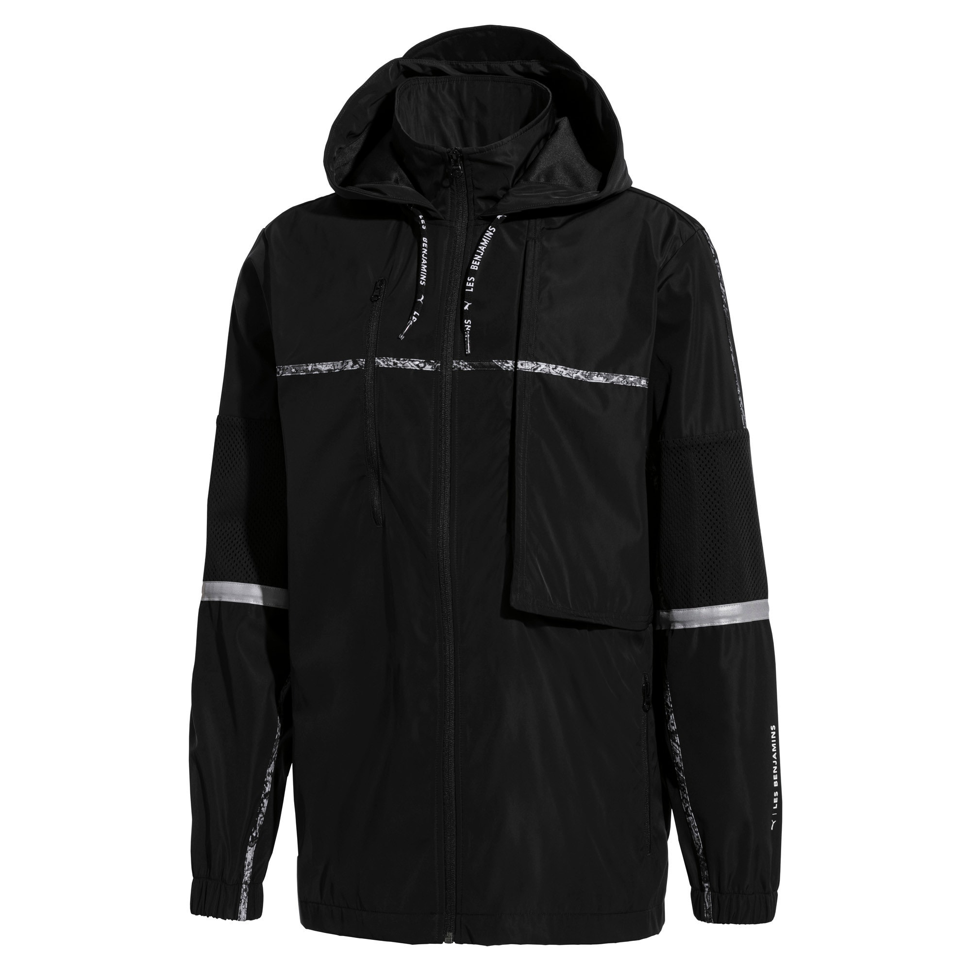 Thumbnail 1 of PUMA x LES BENJAMINS Men's Windbreaker, Puma Black, medium