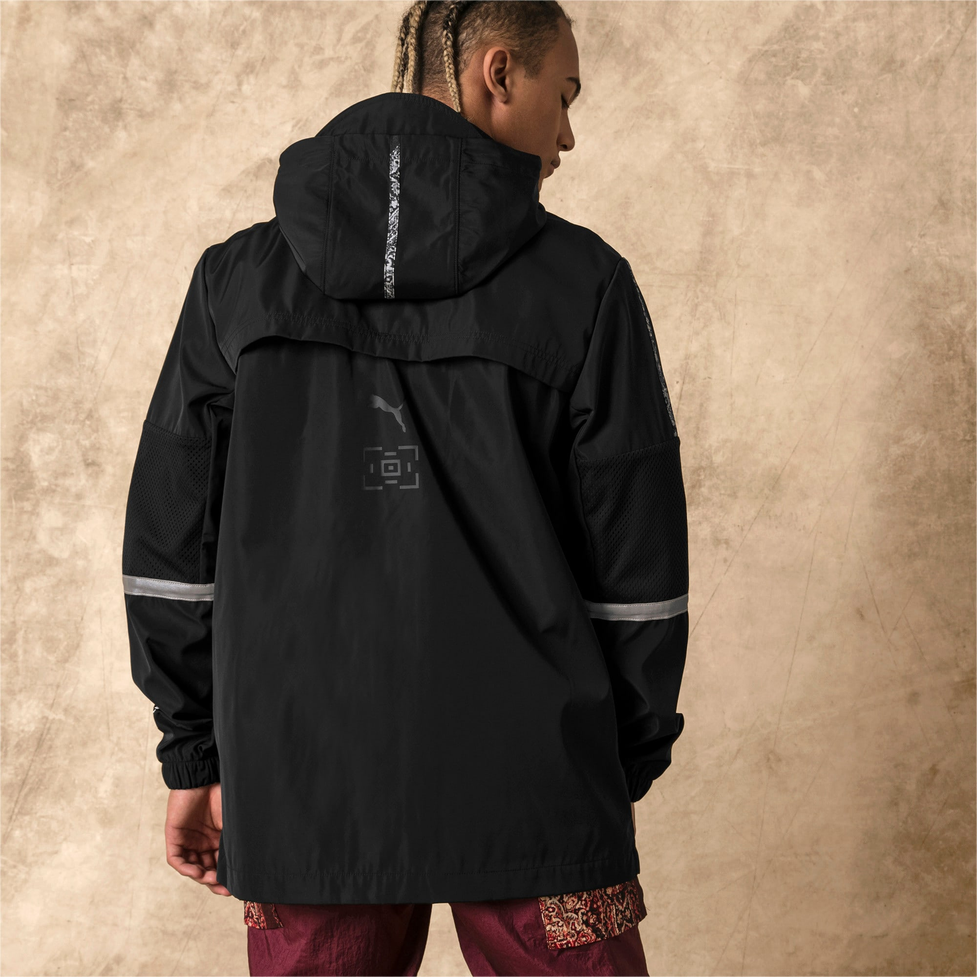 Thumbnail 3 of PUMA x LES BENJAMINS Men's Windbreaker, Puma Black, medium