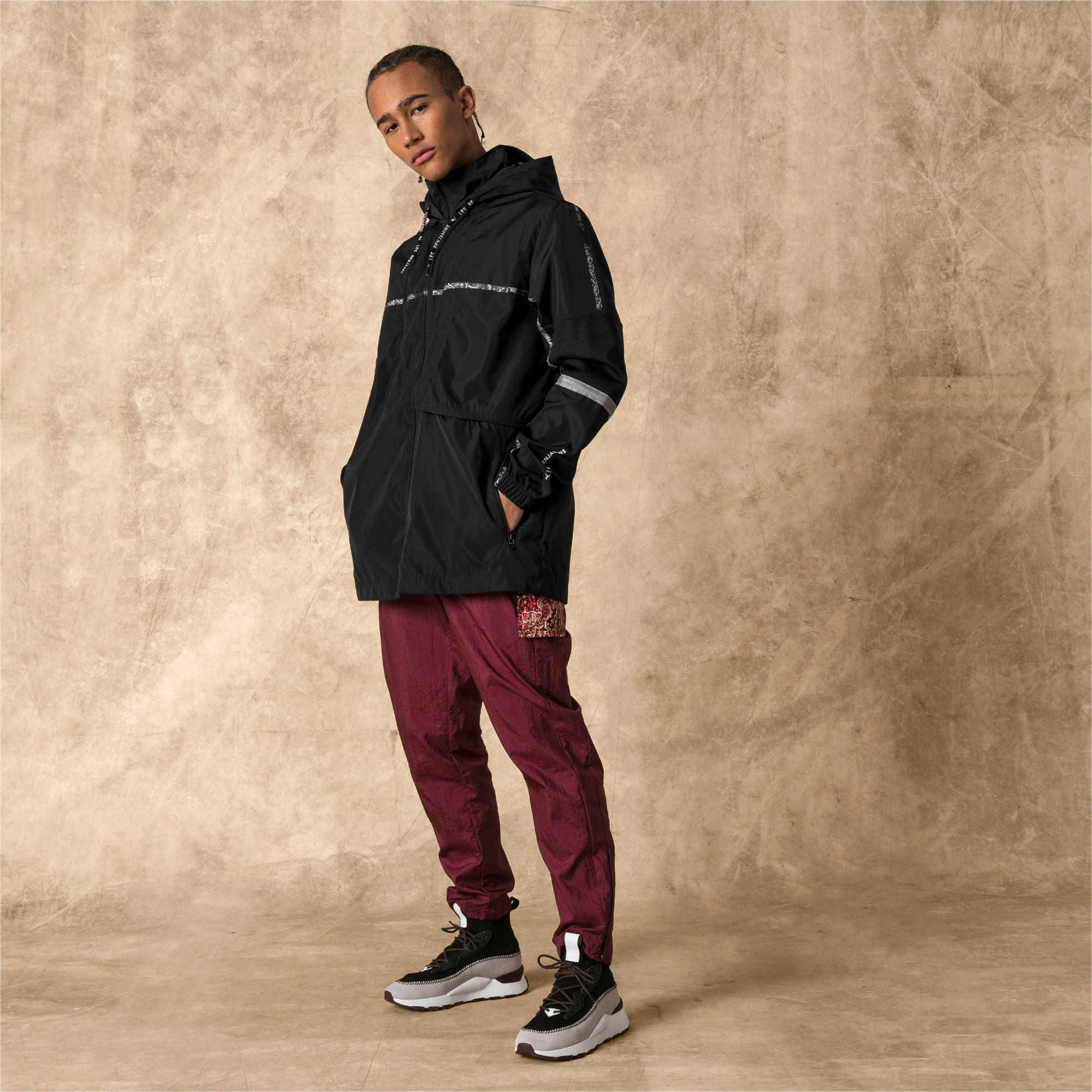 Thumbnail 5 of PUMA x LES BENJAMINS Men's Windbreaker, Puma Black, medium