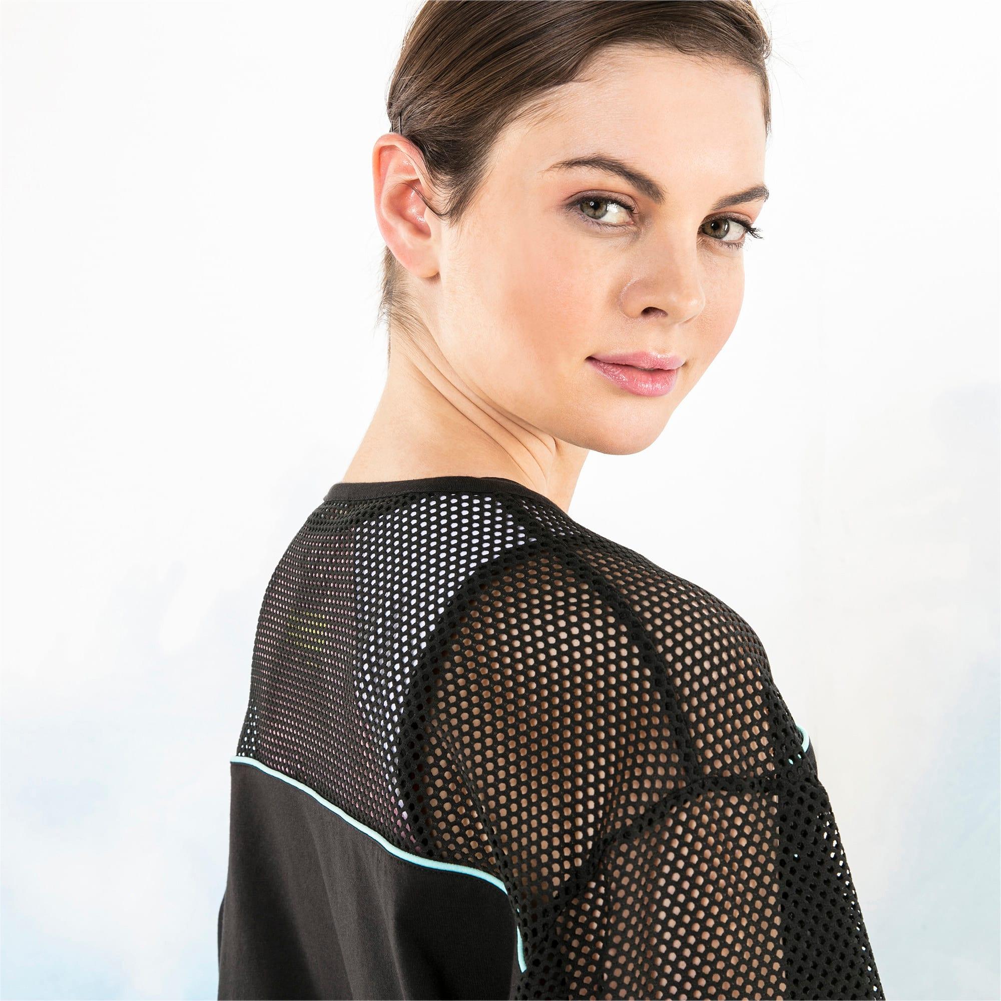 Miniatura 4 de Camiseta de malla de manga largaPUMA x SOPHIA WEBSTER para mujer, Puma Black, mediano