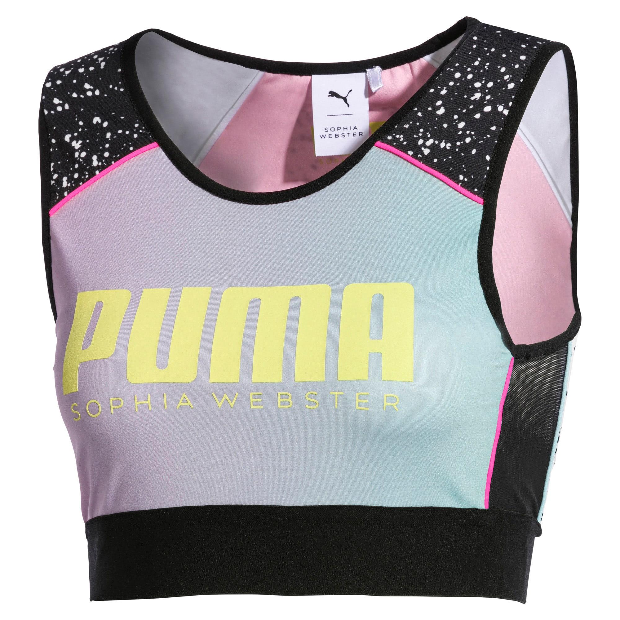 Thumbnail 7 of PUMA x SOPHIA WEBSTER Women's Reversible Crop Top, Puma White-AOP, medium