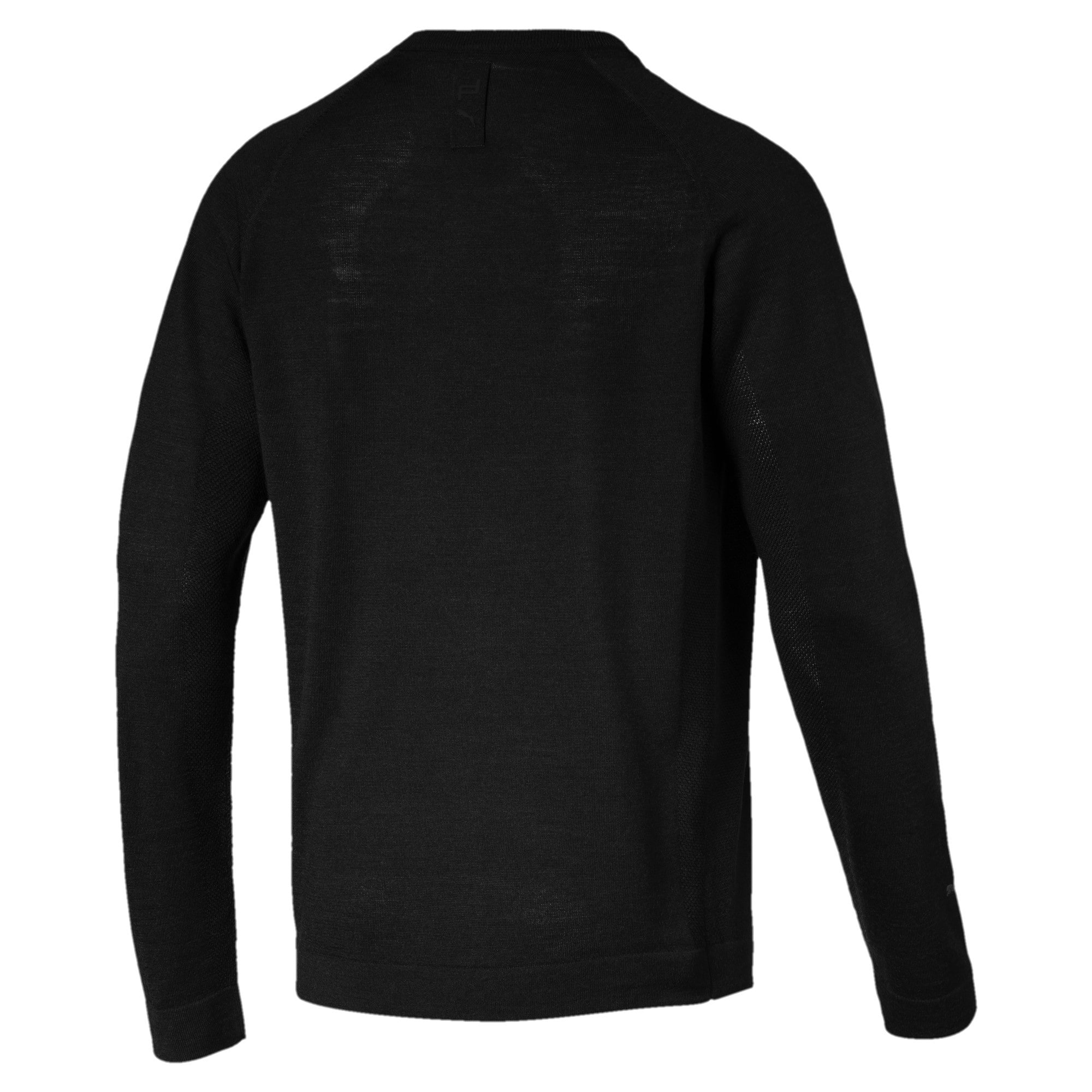 Thumbnail 2 of Porsche Design evoKNIT Herren V-Neck Sweatshirt, Jet Black, medium