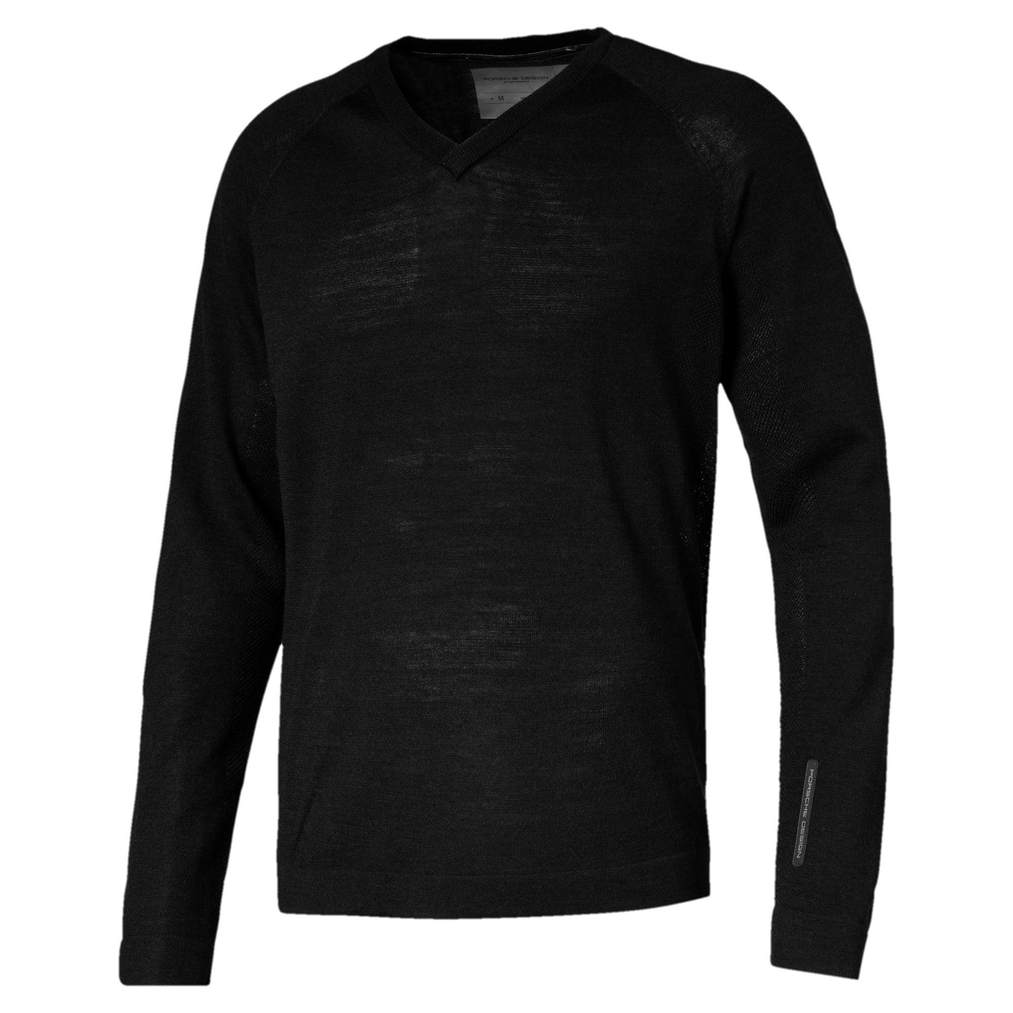 Thumbnail 1 of Porsche Design evoKNIT Herren V-Neck Sweatshirt, Jet Black, medium