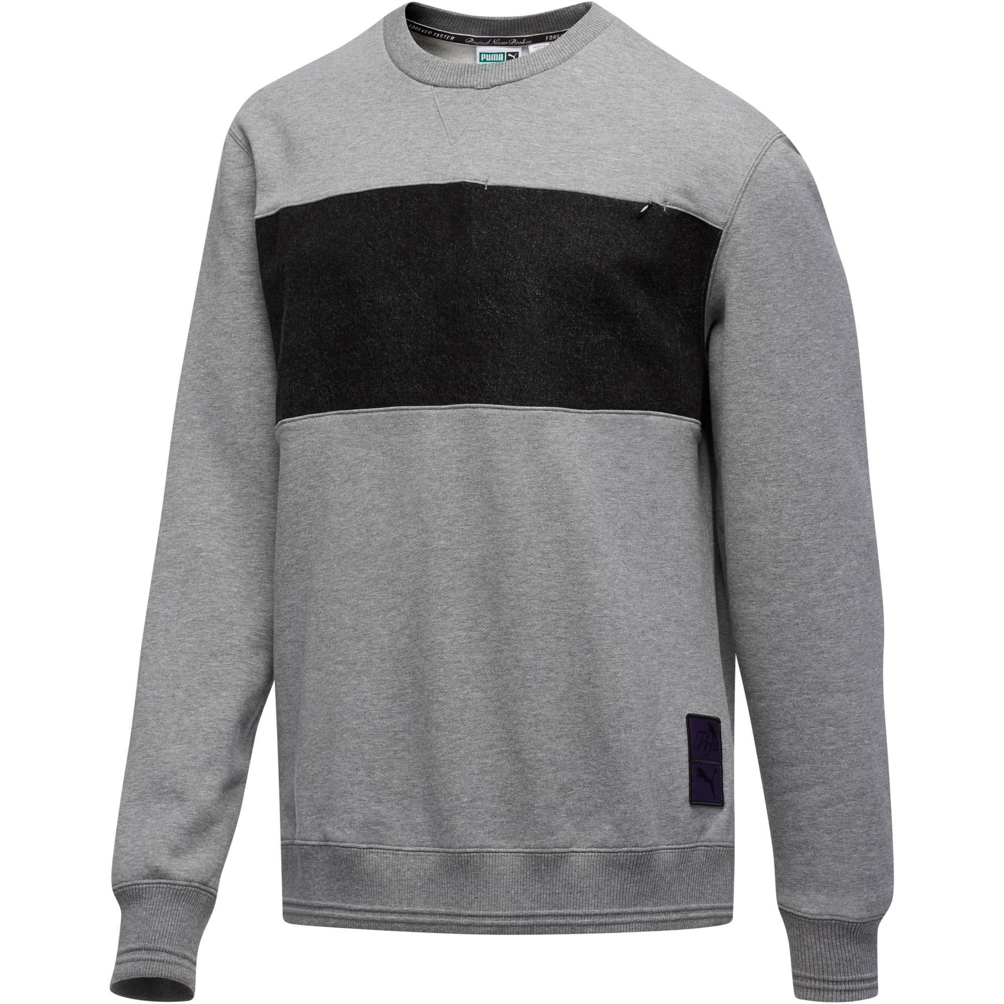 Thumbnail 1 of PUMA x PRPS Supply Men's Crewneck Sweatshirt, MGH-Puma Black, medium