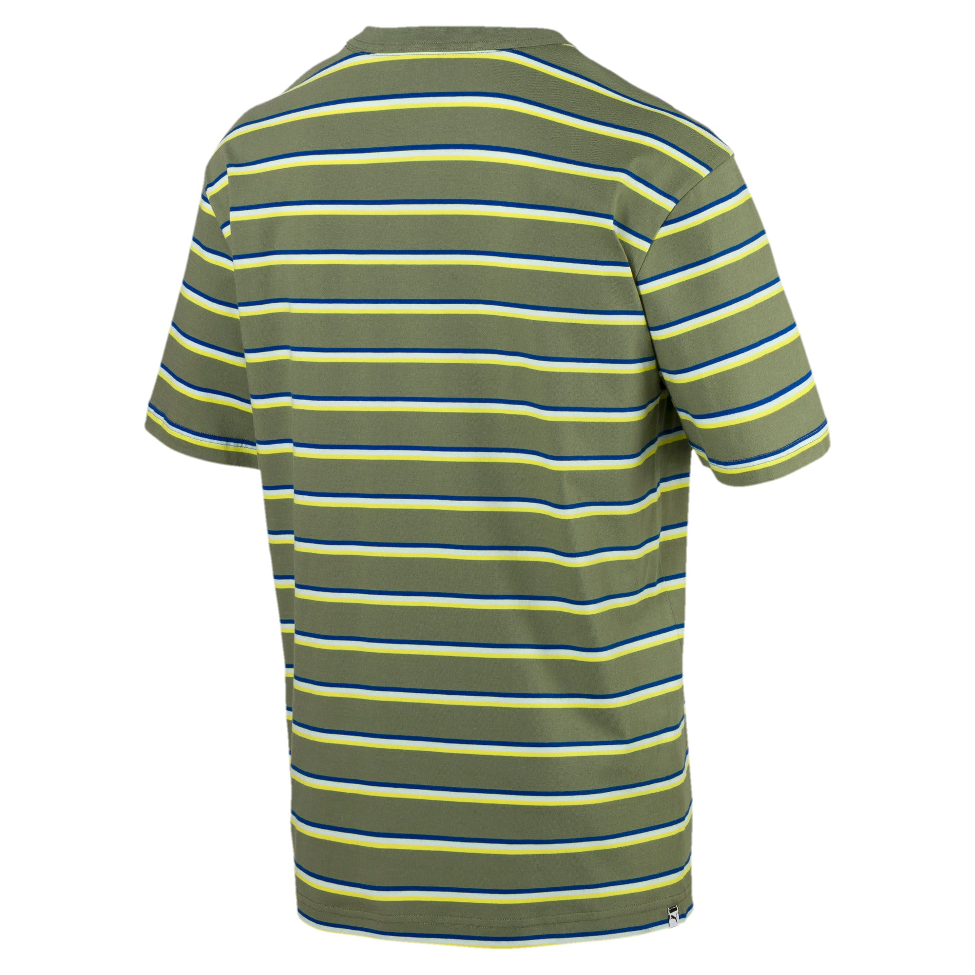 Thumbnail 3 of Downtown Striped Men's Tee, Olivine, medium