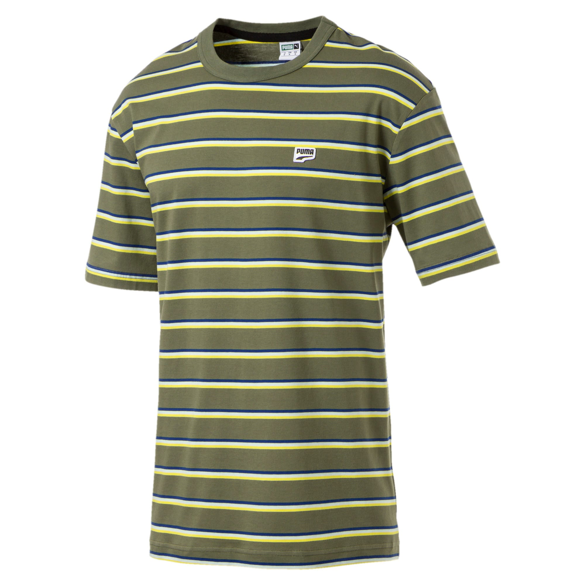 Thumbnail 1 of Downtown Striped Men's Tee, Olivine, medium