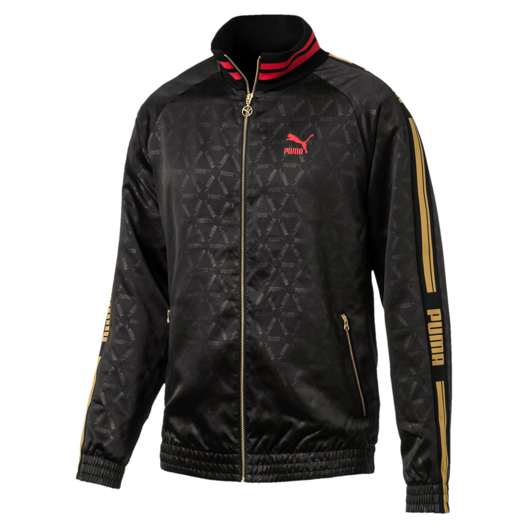 Thumbnail 1 of LUXE PACK Track Jacket, Puma Black-AOP, medium