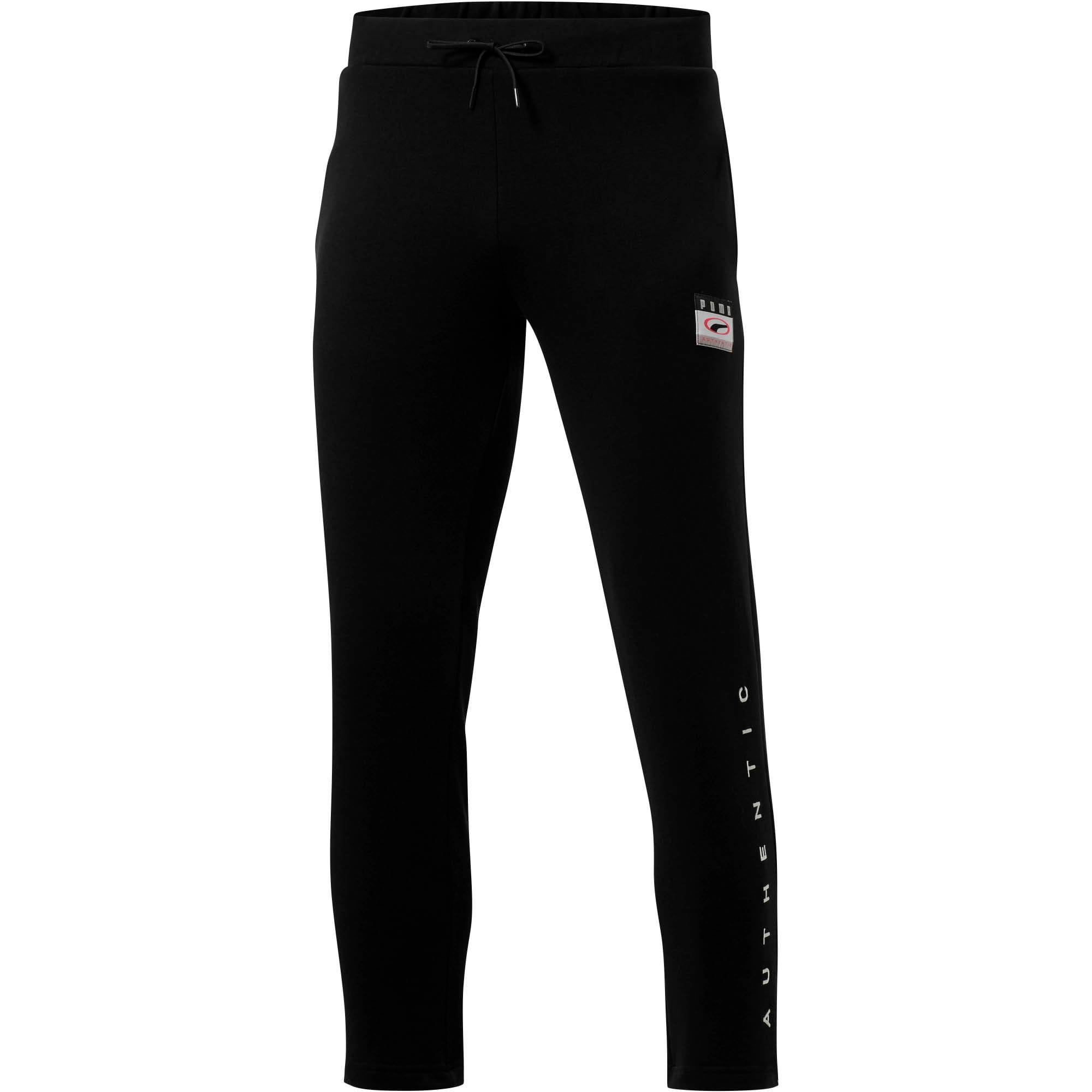 Thumbnail 2 of '90s Retro Men's Sweatpants, Cotton Black, medium