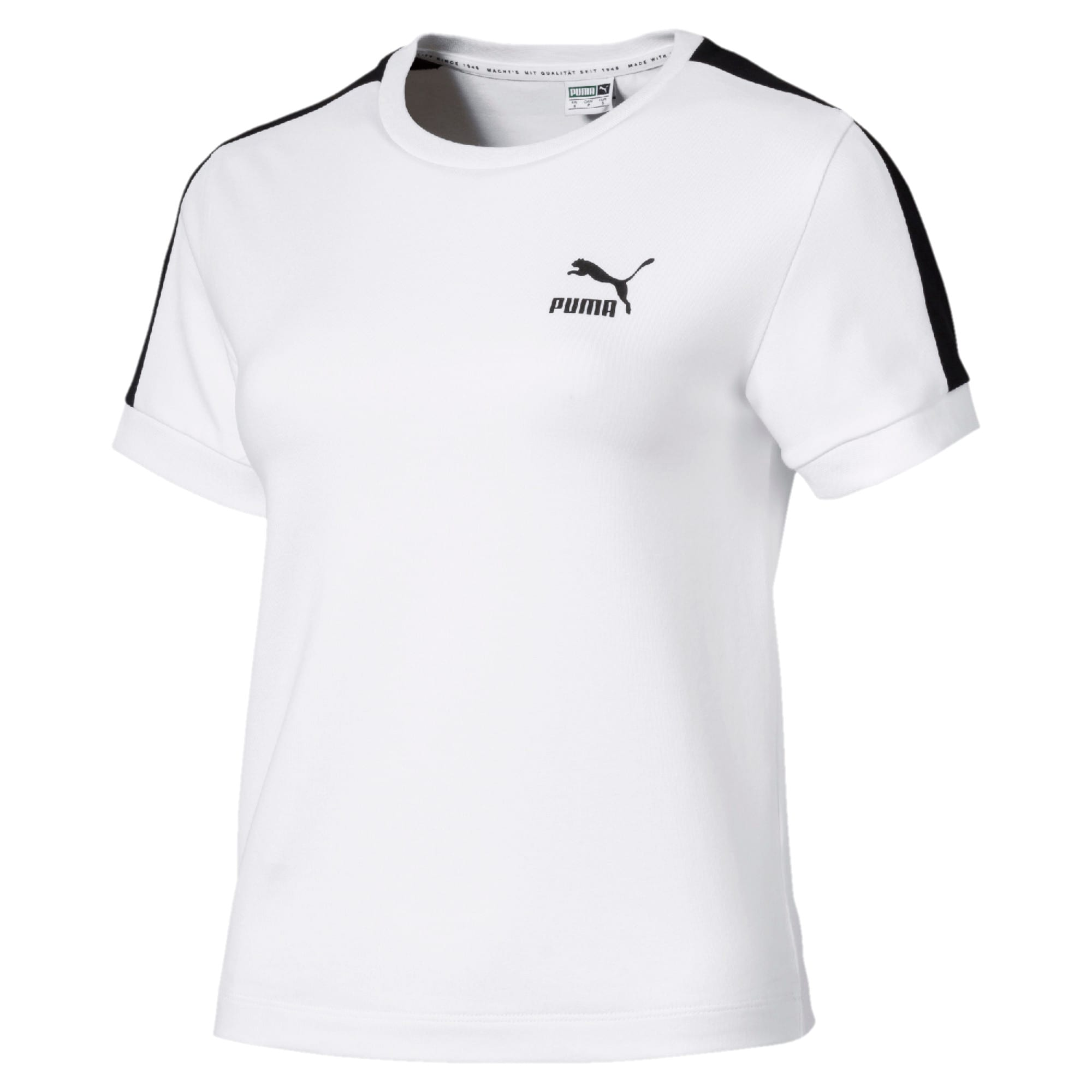 Thumbnail 1 of CLASSICS タイト ウィメンズ SS Tシャツ 半袖, Puma White-black, medium-JPN