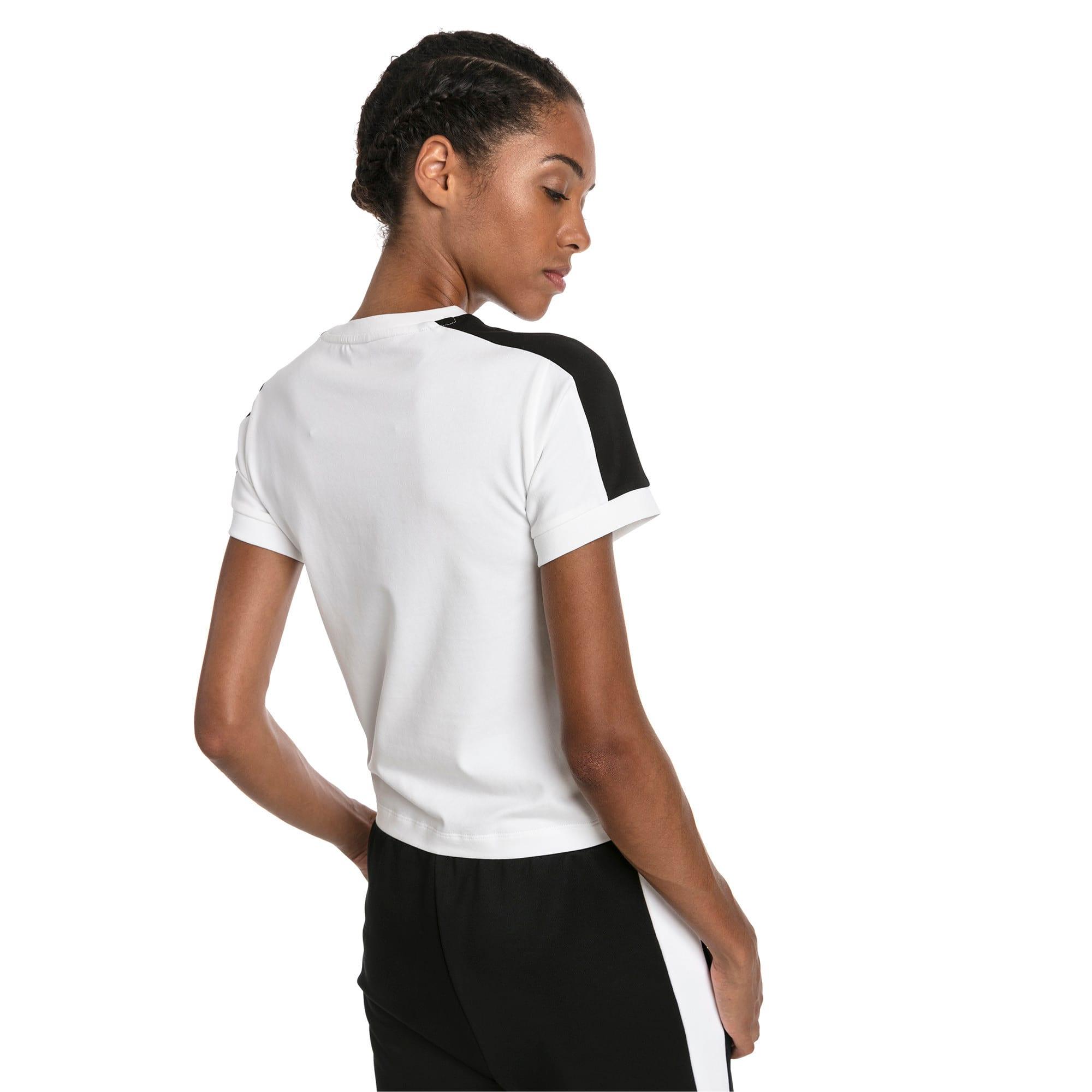 Thumbnail 3 of CLASSICS タイト ウィメンズ SS Tシャツ 半袖, Puma White-black, medium-JPN