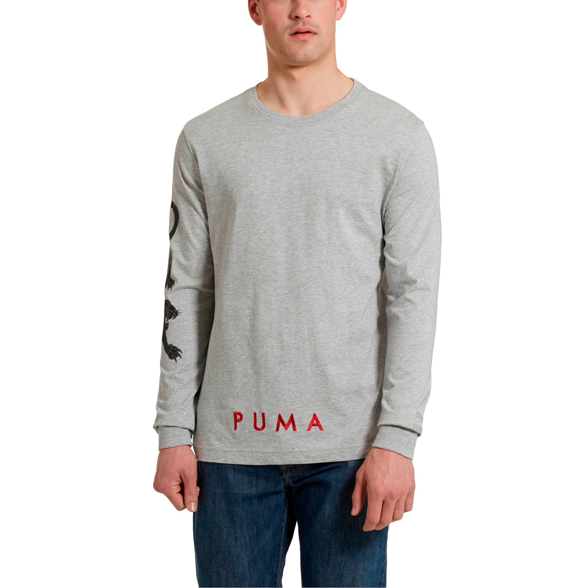 Miniatura 1 de Camiseta de mangas largas Last Dayz para hombre, Light Gray Heather, mediano