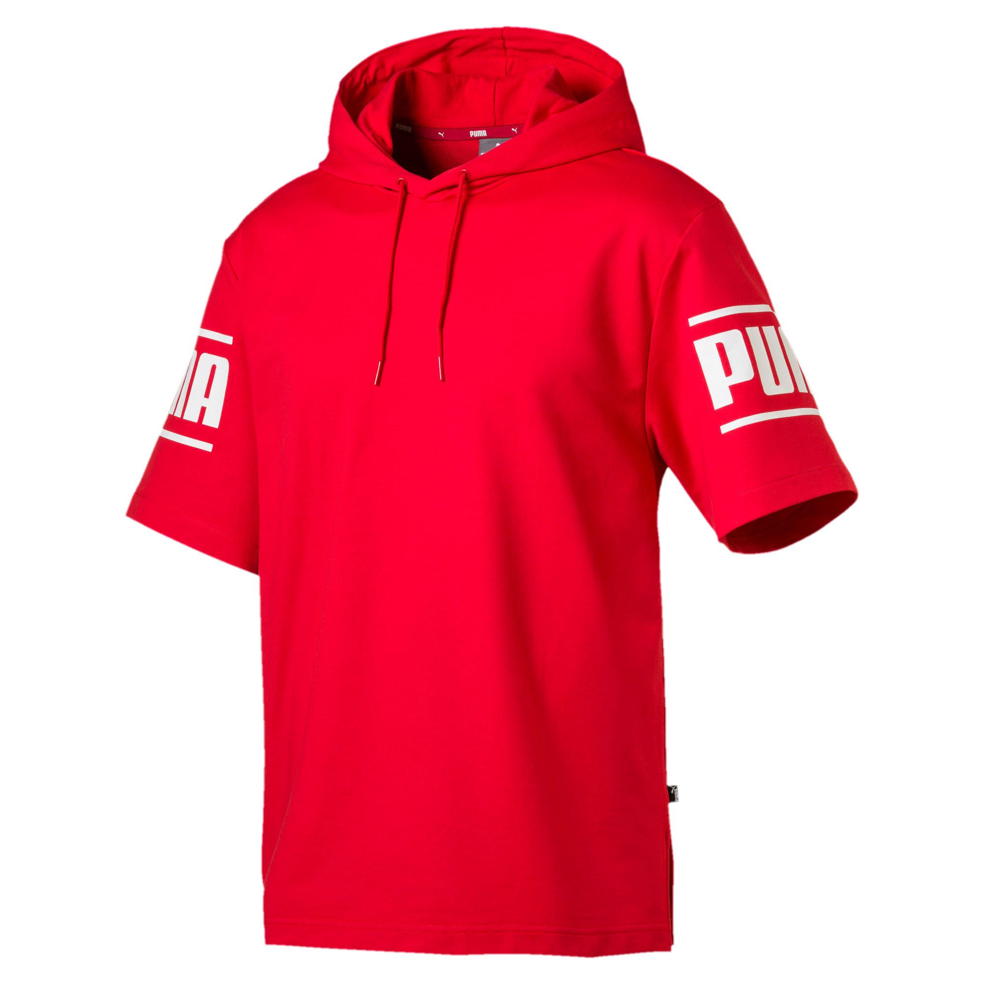 Thumbnail 1 of Camo Pack Men's Short Sleeve Hoodie, High Risk Red, medium