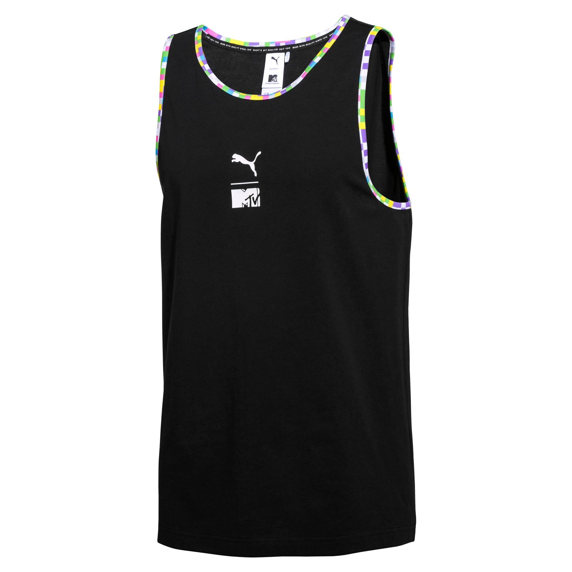 Miniatura 1 de Camiseta sin mangas PUMA x MTV para hombre, Puma Black, mediano