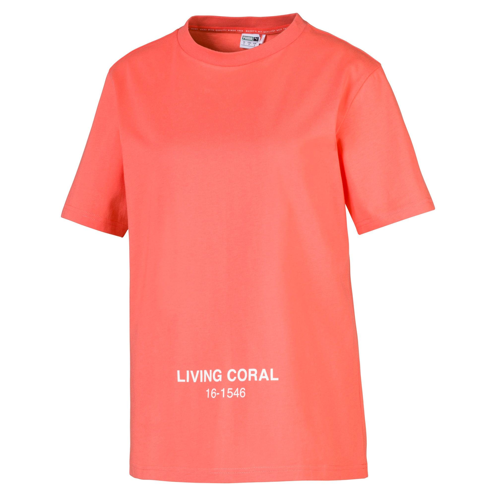 Thumbnail 1 of PUMA x PANTONE Tee, Transparent-Living Coral, medium
