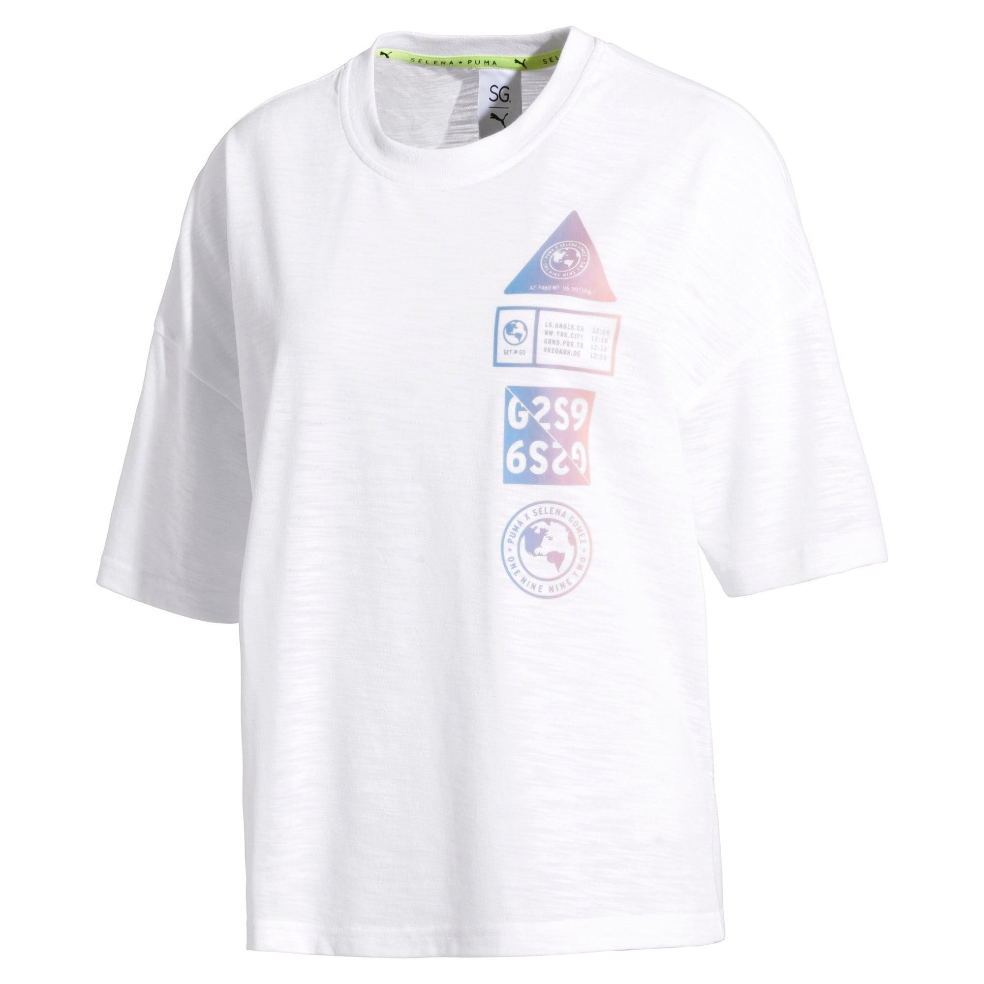 buty temperamentu przystojny klasyczny styl Damska koszulka PUMA x SELENA GOMEZ