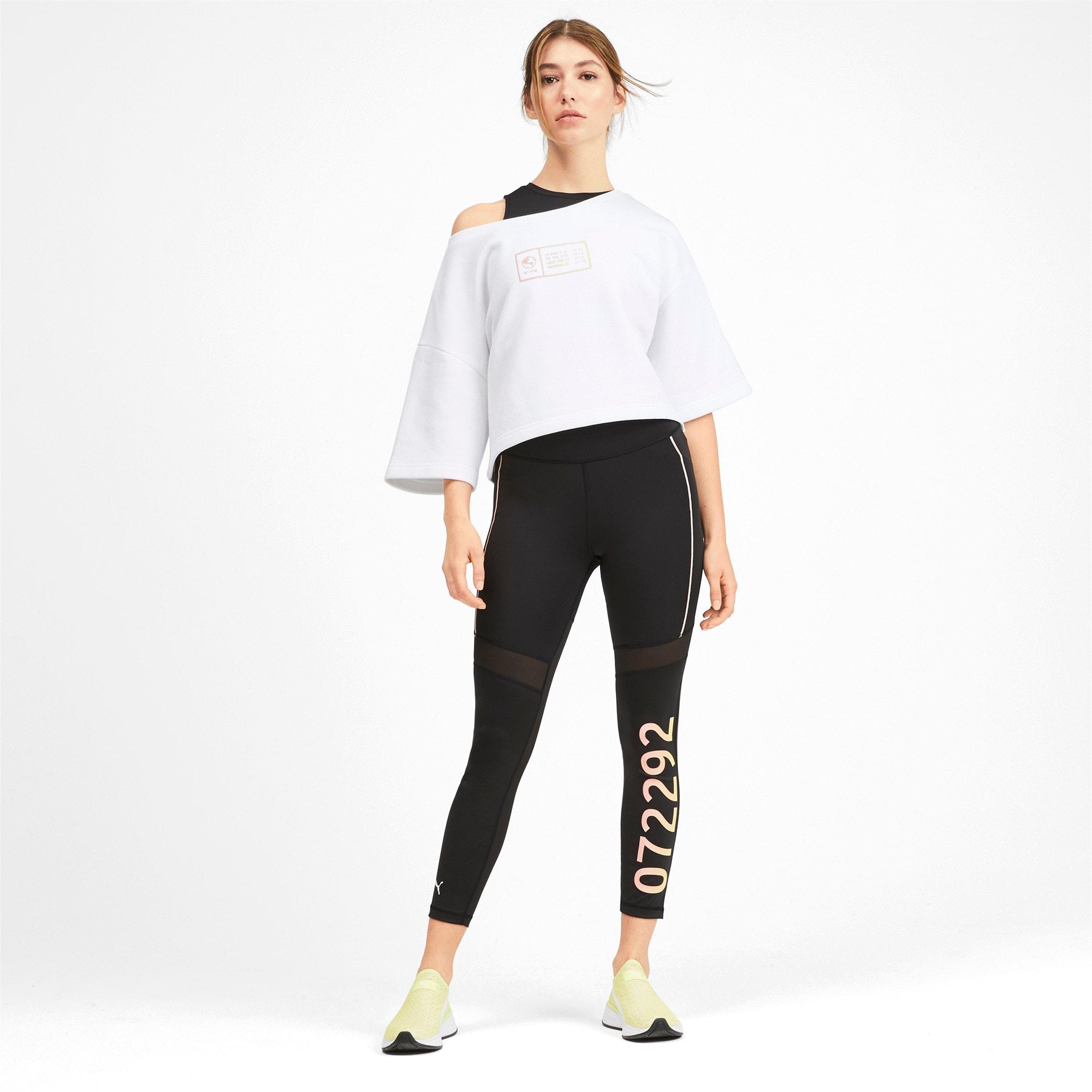 Thumbnail 3 of PUMA x SELENA GOMEZ Cropped Short Sleeve Women's Sweater, Puma White, medium