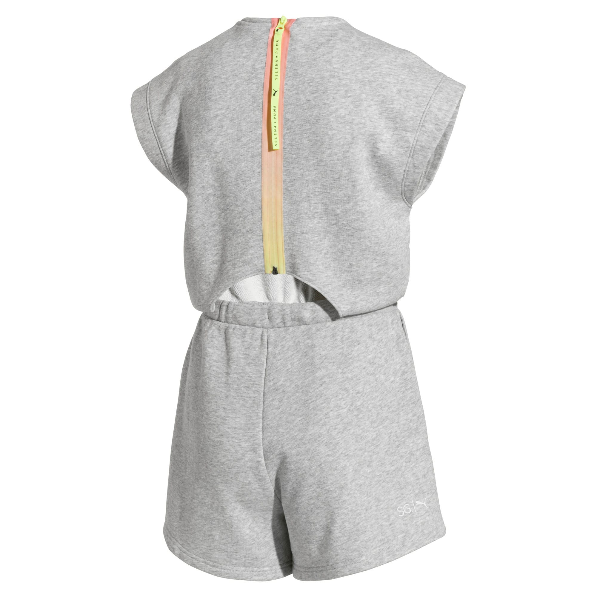 Thumbnail 5 of PUMA x SELENA GOMEZ Women's Romper, Light Gray Heather, medium