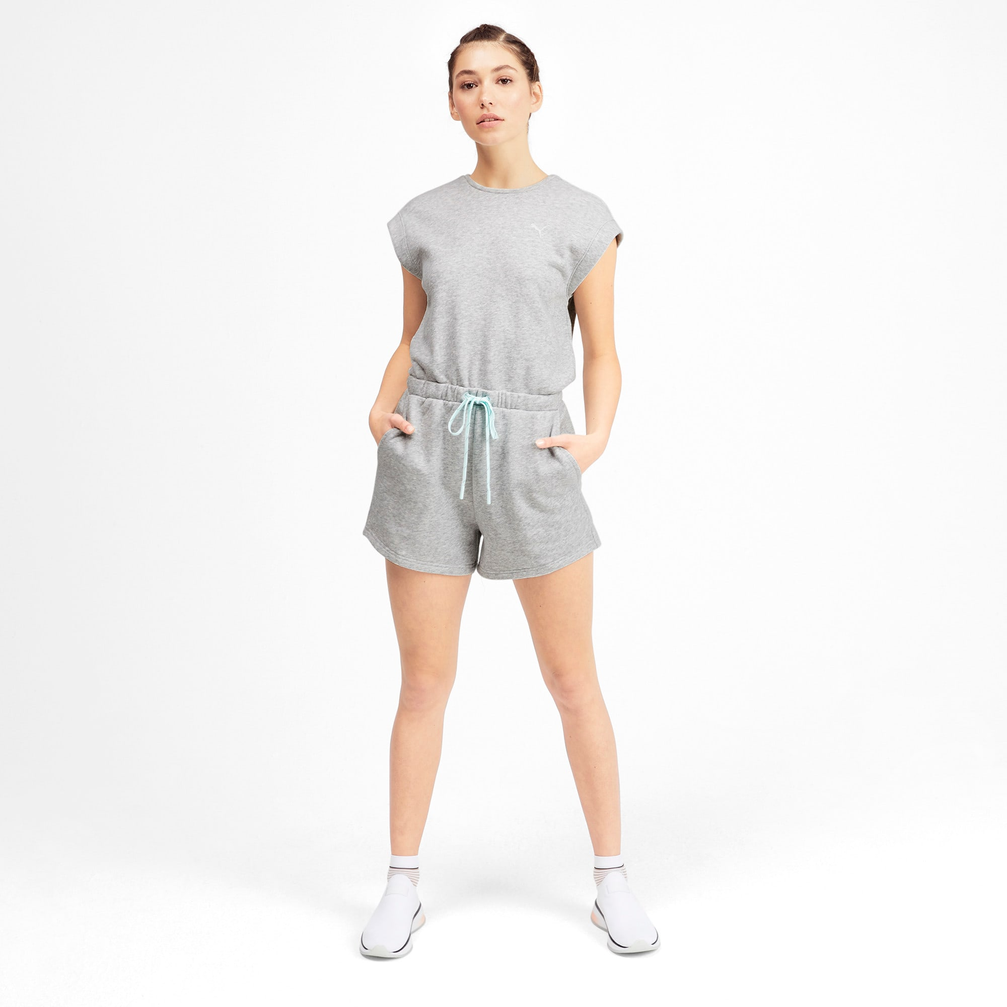 Thumbnail 3 of PUMA x SELENA GOMEZ Women's Romper, Light Gray Heather, medium